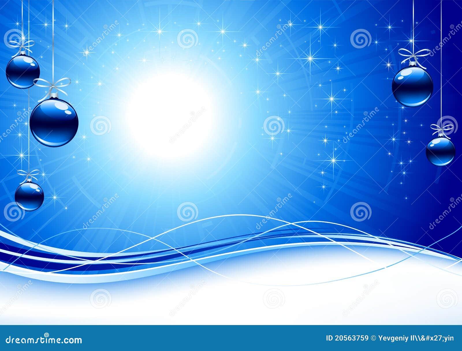 Hintergrund mit blauen weihnachtskugeln lizenzfreie for Christbaumkugeln blau