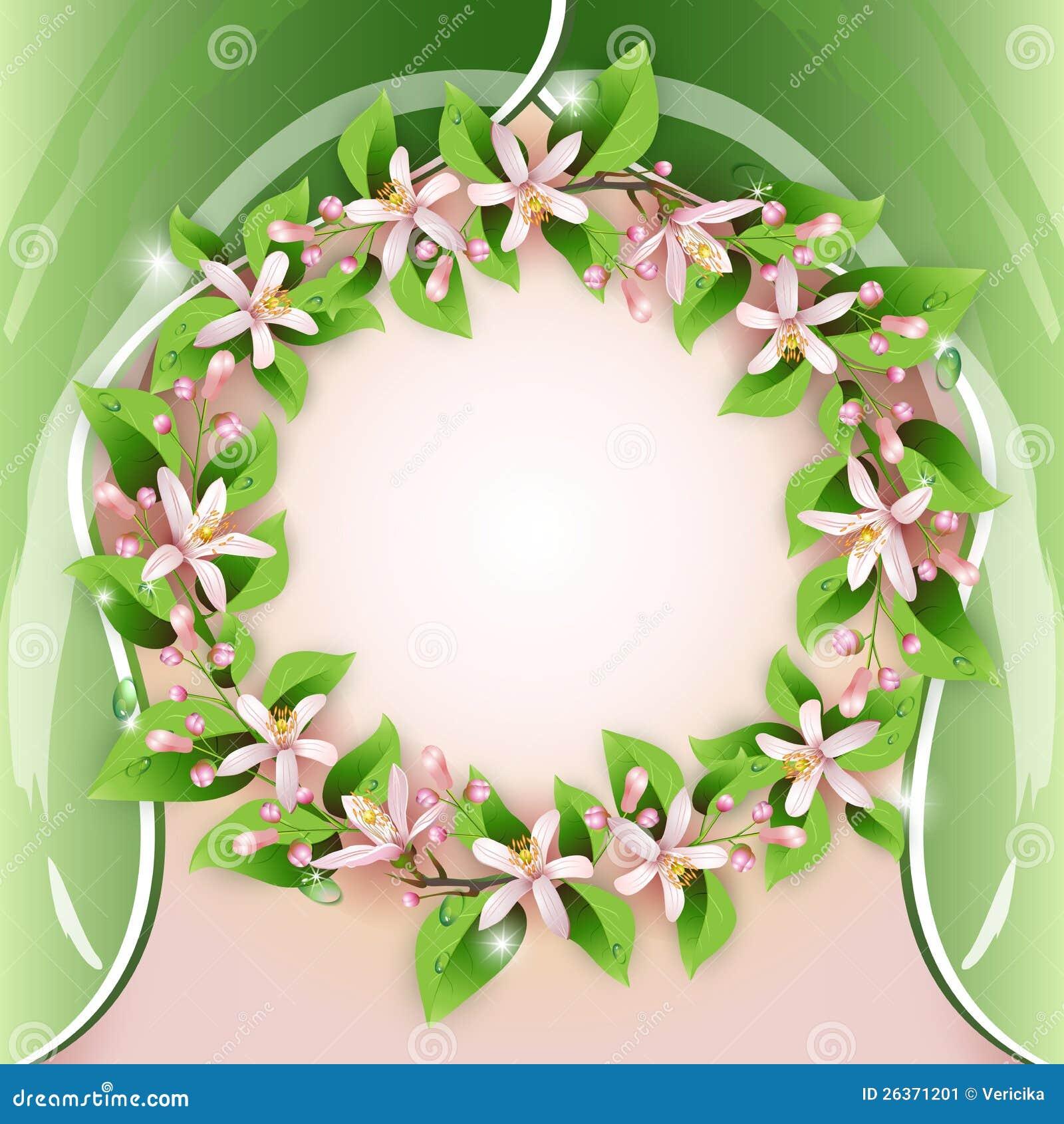 Hintergrund mit Blume Wreath