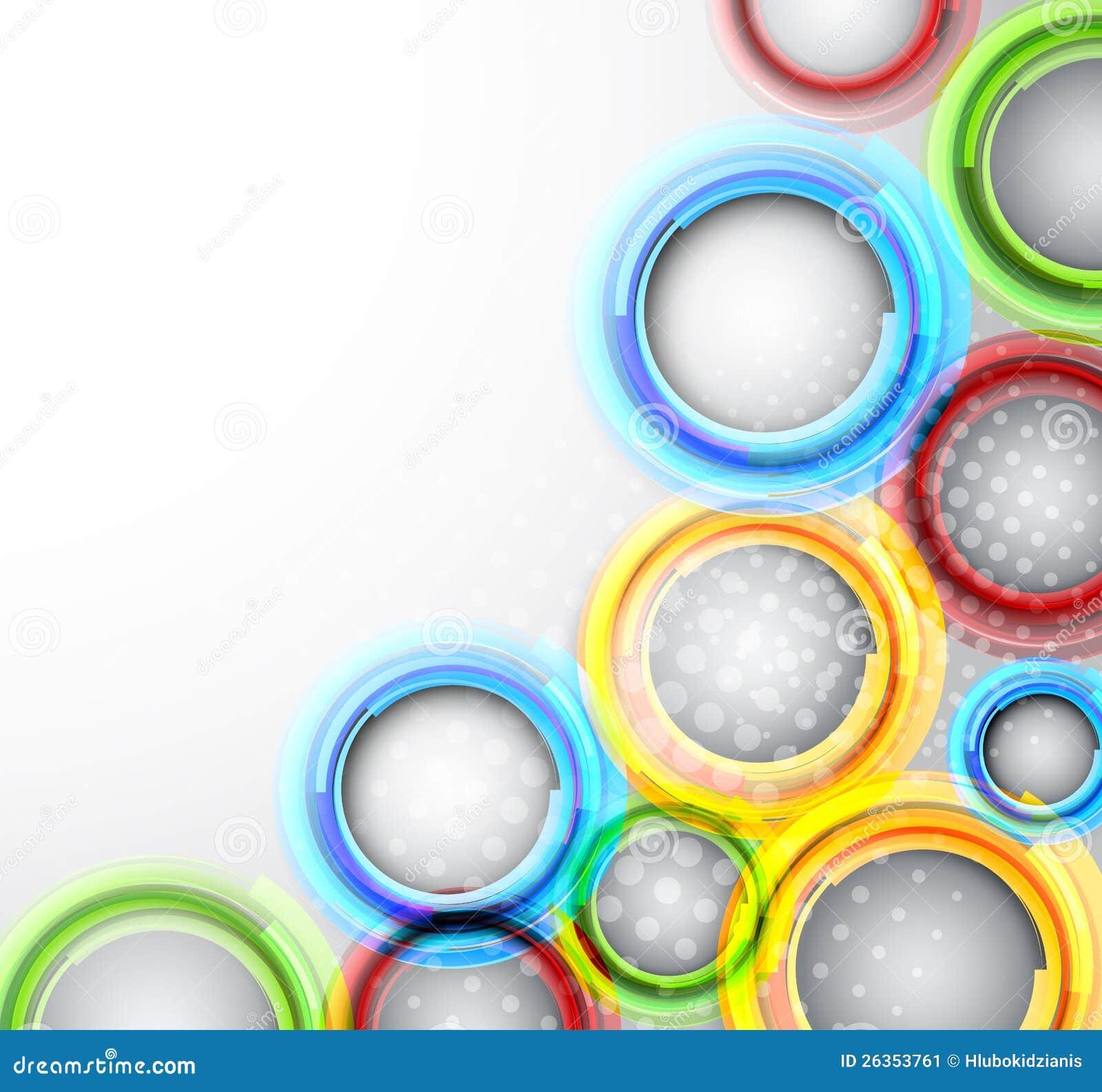 Hintergrund mit bunten Kreisen