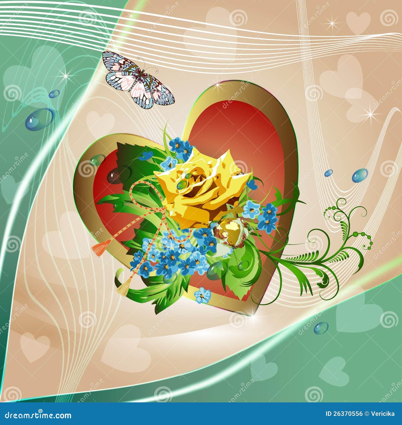 Hintergrund mit dem h-Gelb rosafarben und den Cornflowers