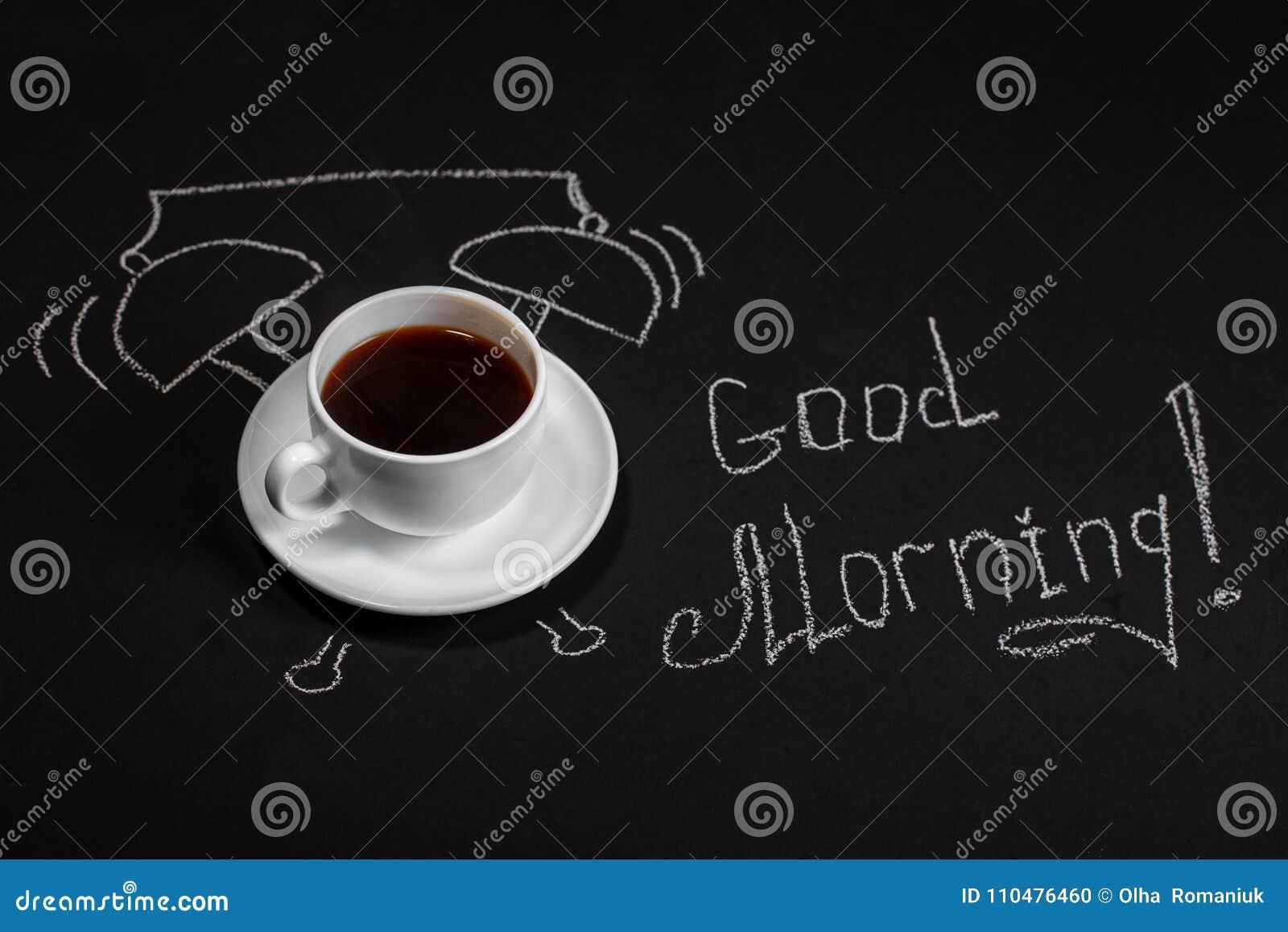 Hintergrund Mit Einer Schale Köstlichem Kaffee Guten Morgen