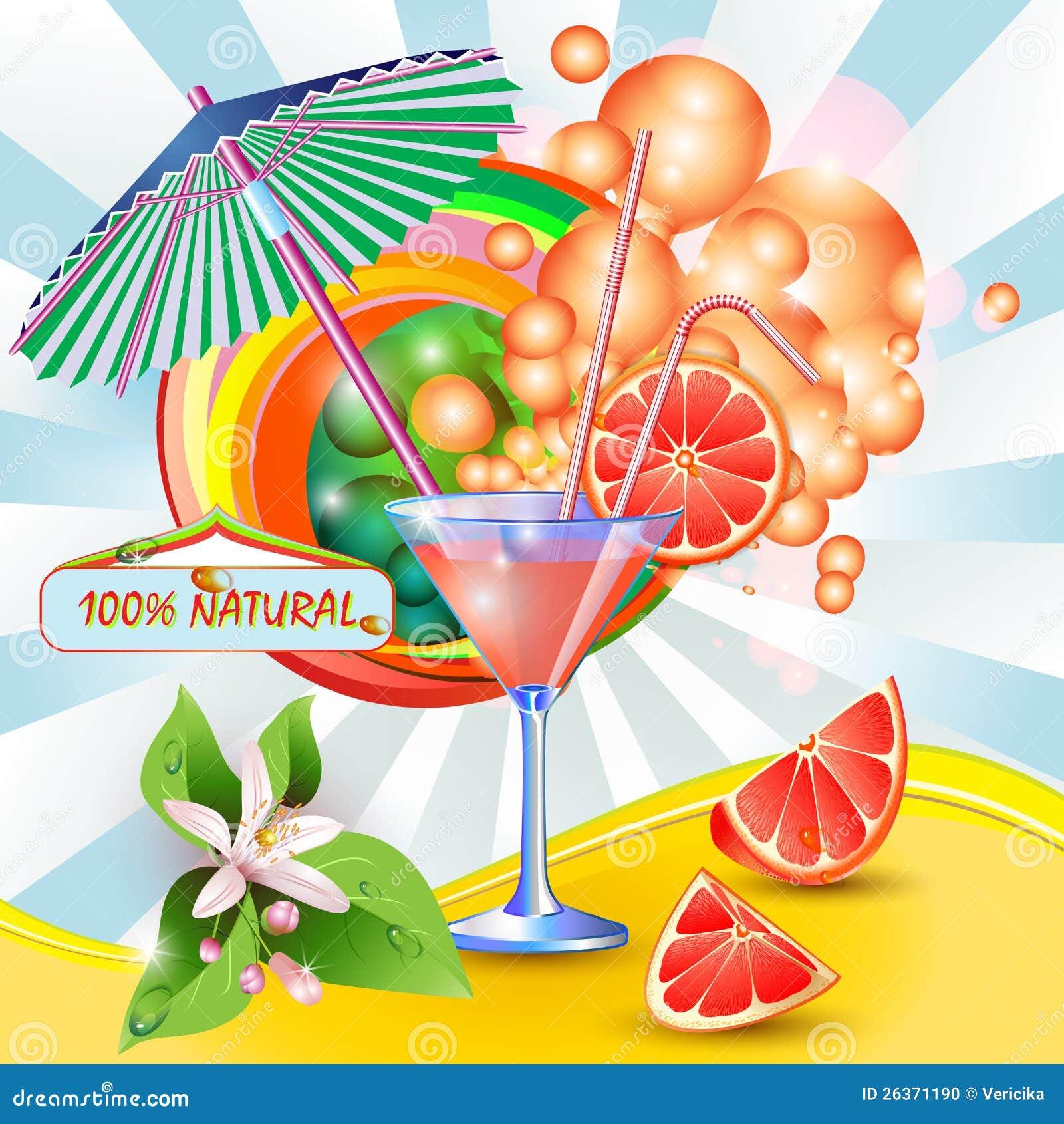 Hintergrund mit frischem Grapefruitsaft
