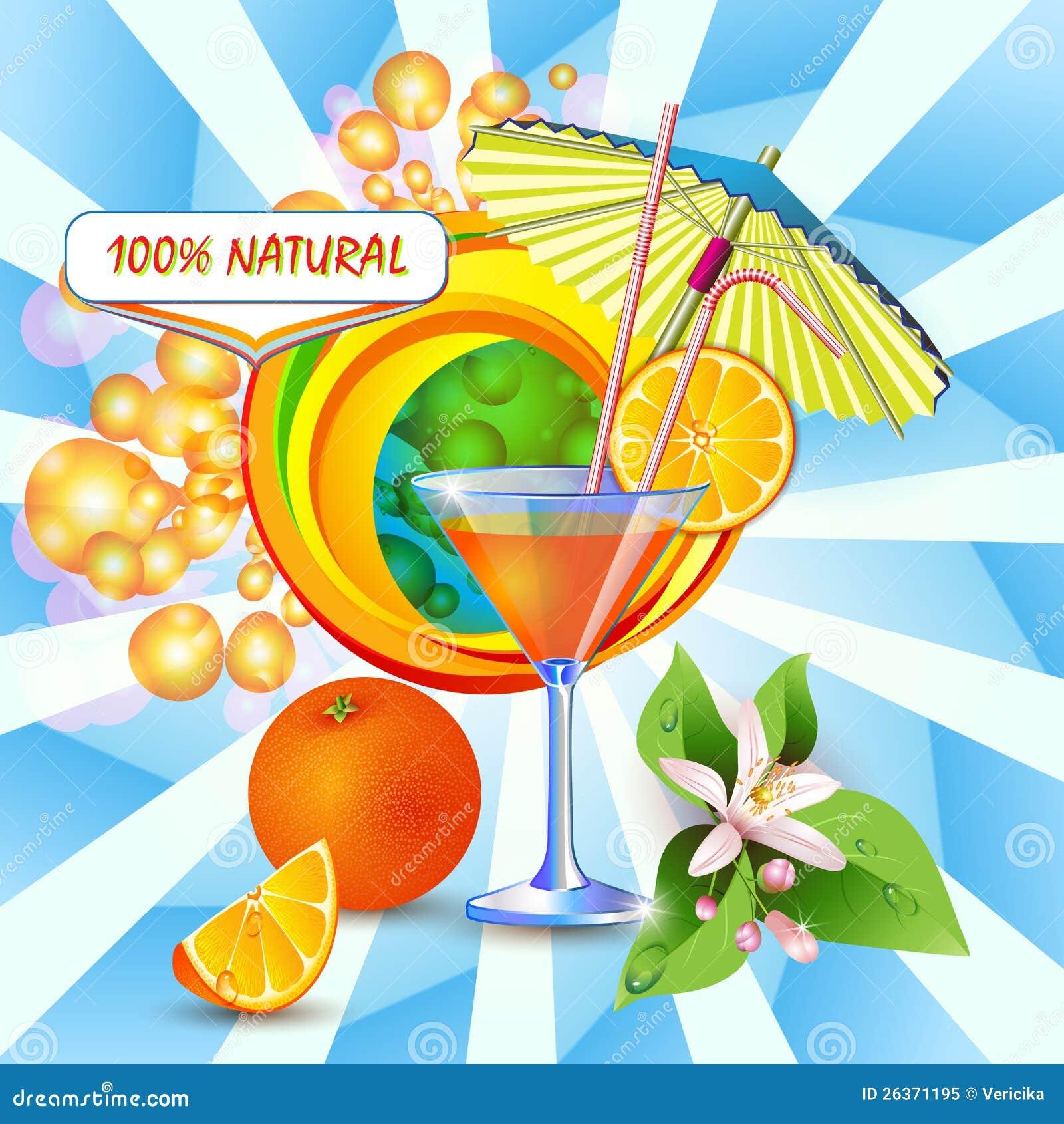 Hintergrund mit frischem Orangensaft