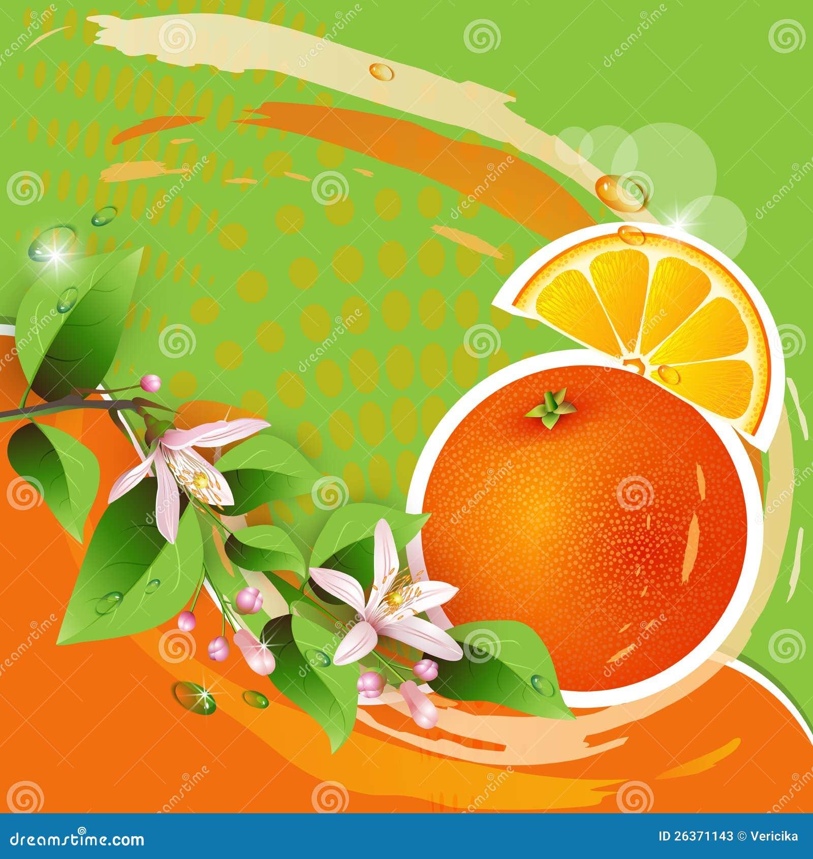 Hintergrund mit frischer Orange