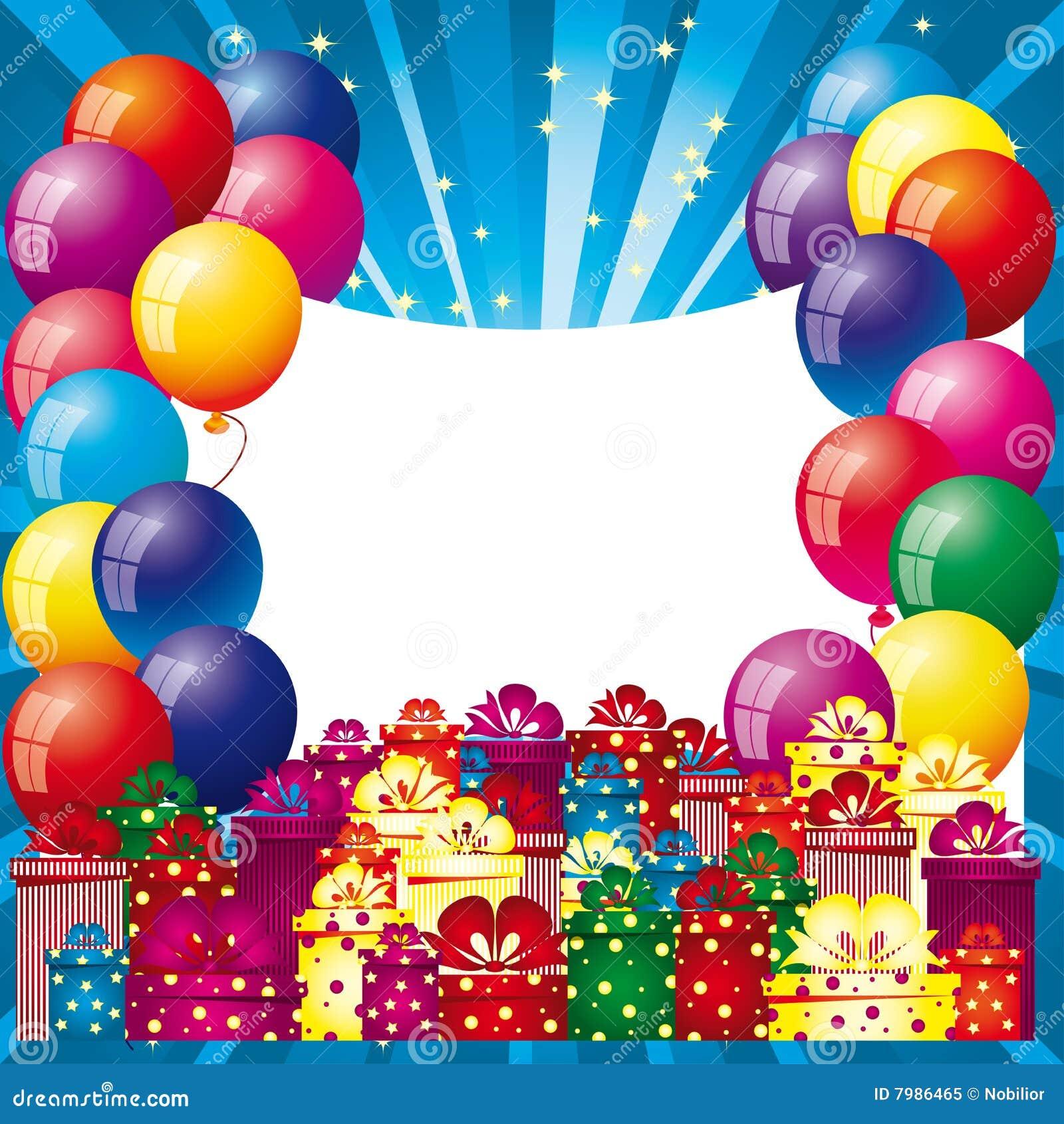 Hintergrund mit Luftballonen