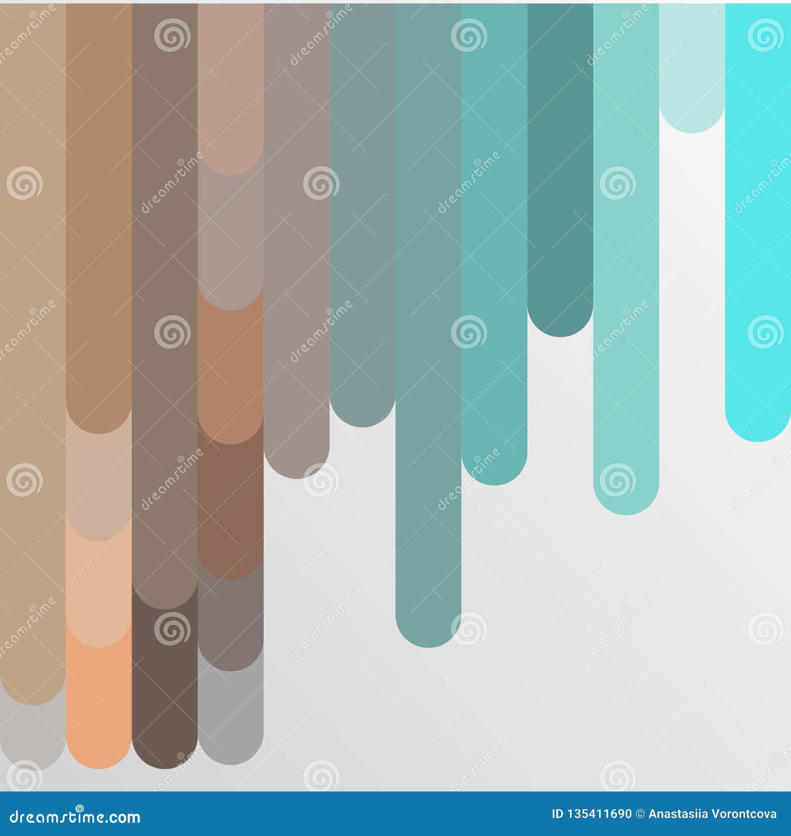 Hintergrund mit mehrfarbiger Pastellstreifenvektorillustration