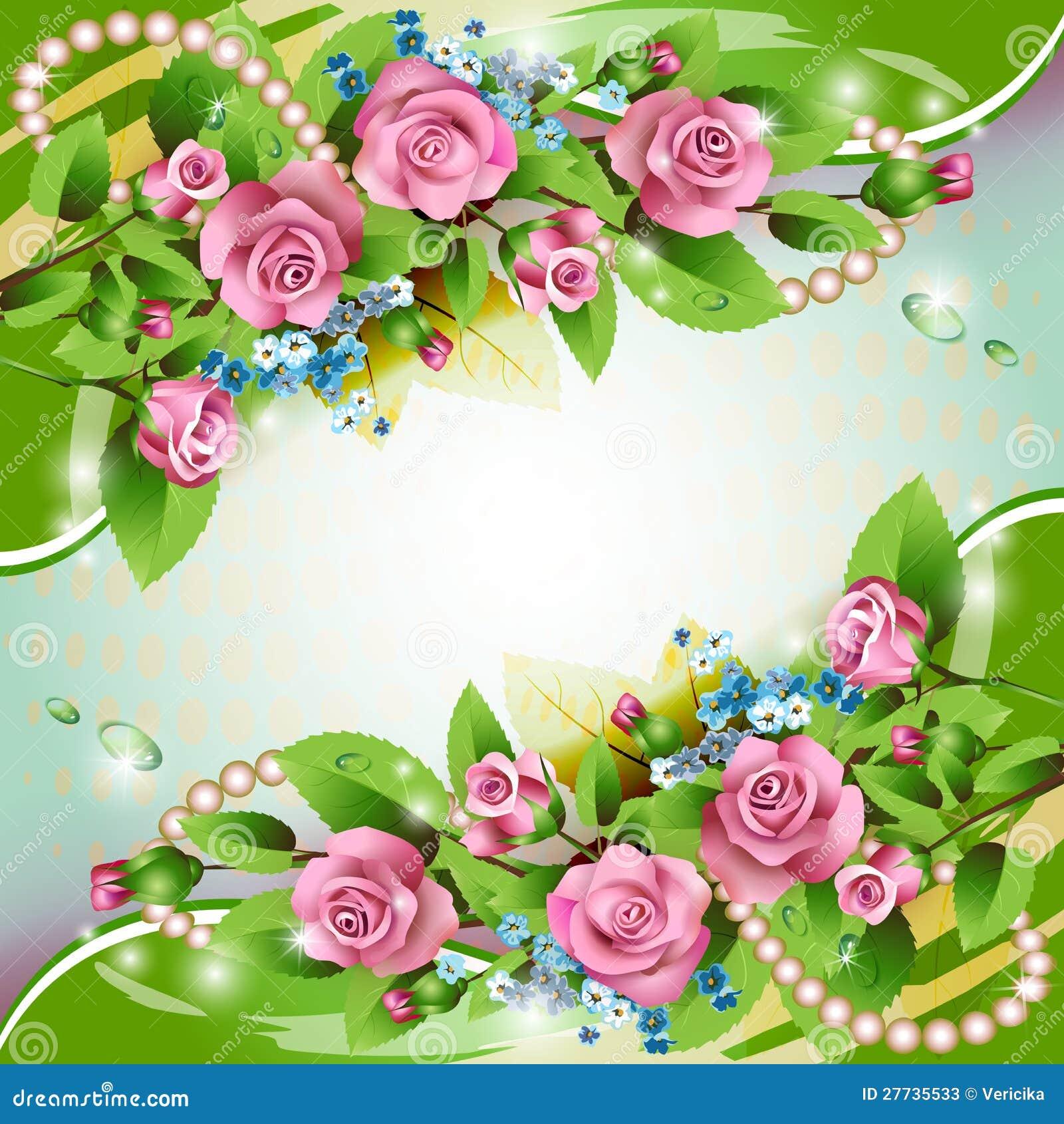 Hintergrund mit rosafarbenen Rosen
