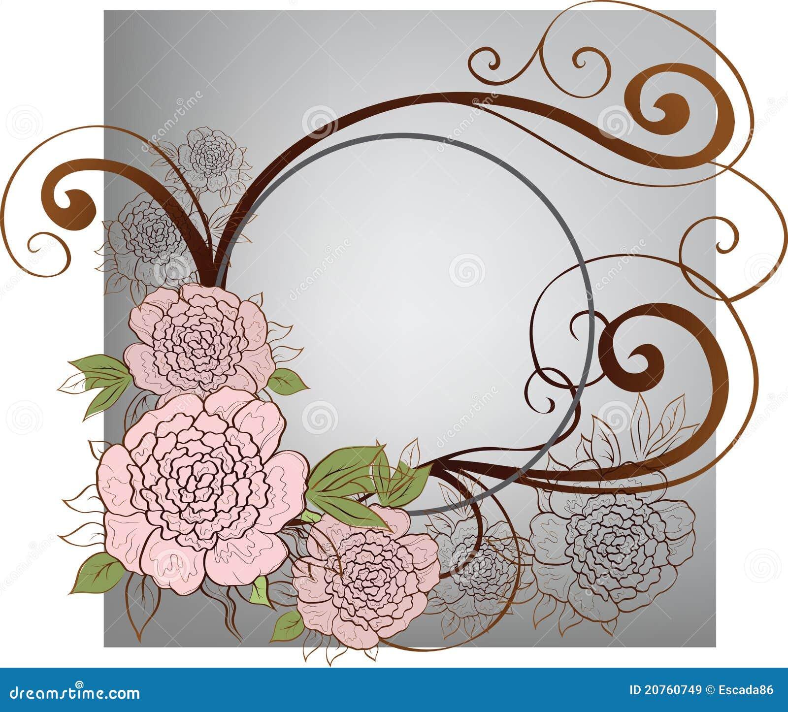 Hintergrund mit Rosen