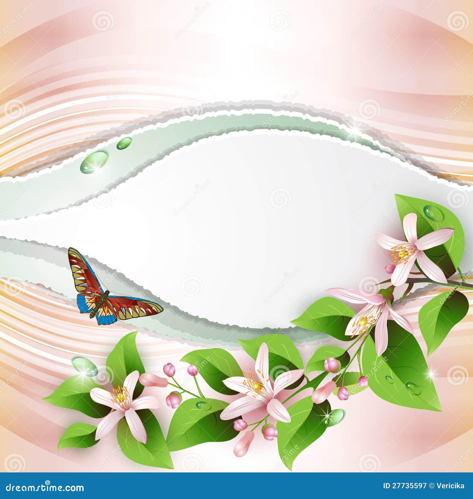 Hintergrund mit schönen Blumen