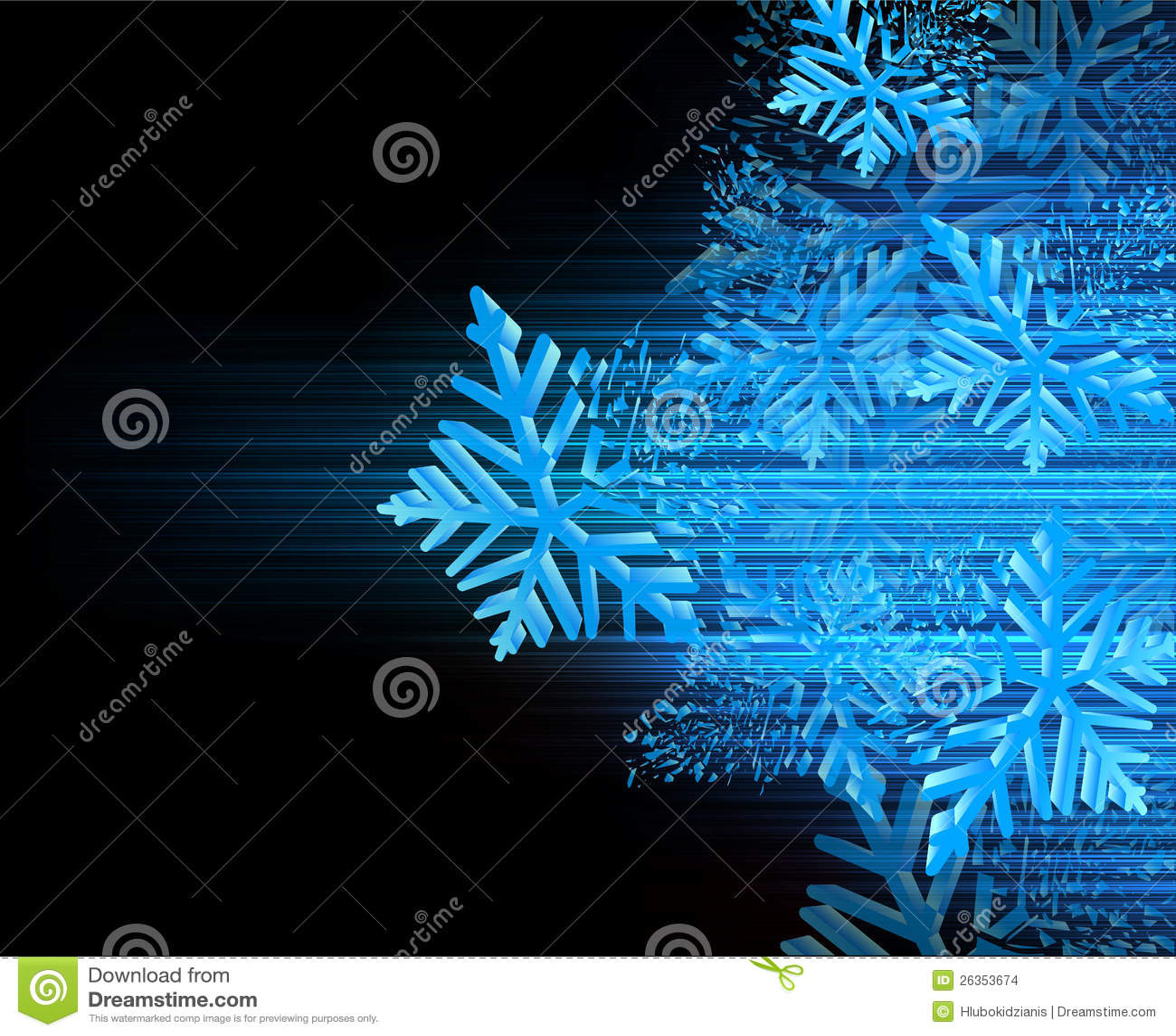 Hintergrund mit Schneeflocken