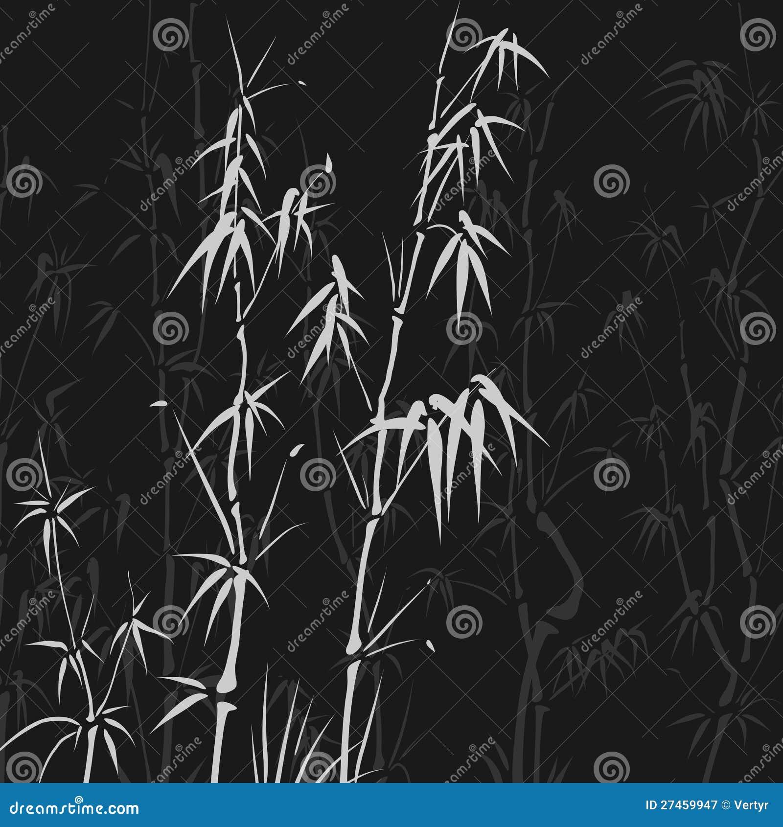 Hintergrund mit vielen Bambus in der asiatischen Art.