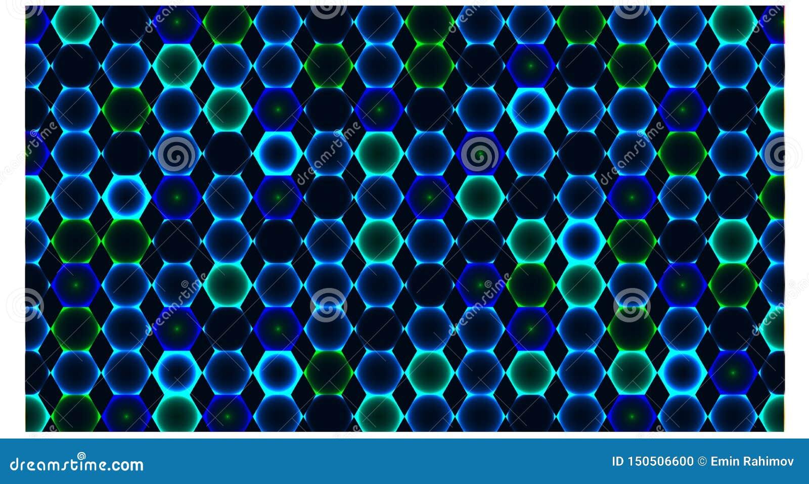 Hintergrund mit vielen blaue Farbe des Hexagons - Vektorillustration