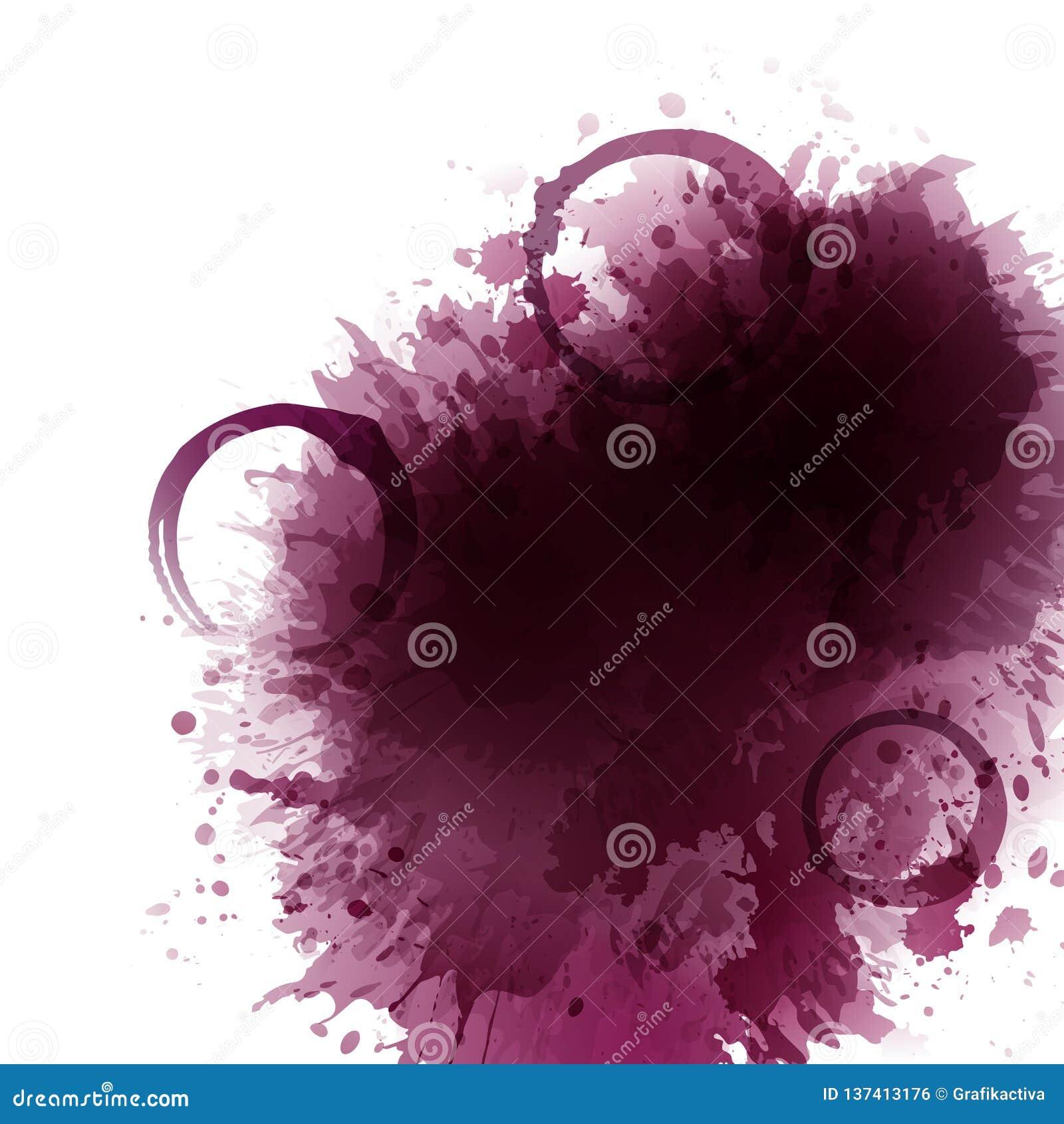 Hintergrund mit Weinflecken, Stellen, Rotwein der Tropfen Weinglasflecke Hintergrund für Fahnen und fördernde Plakate