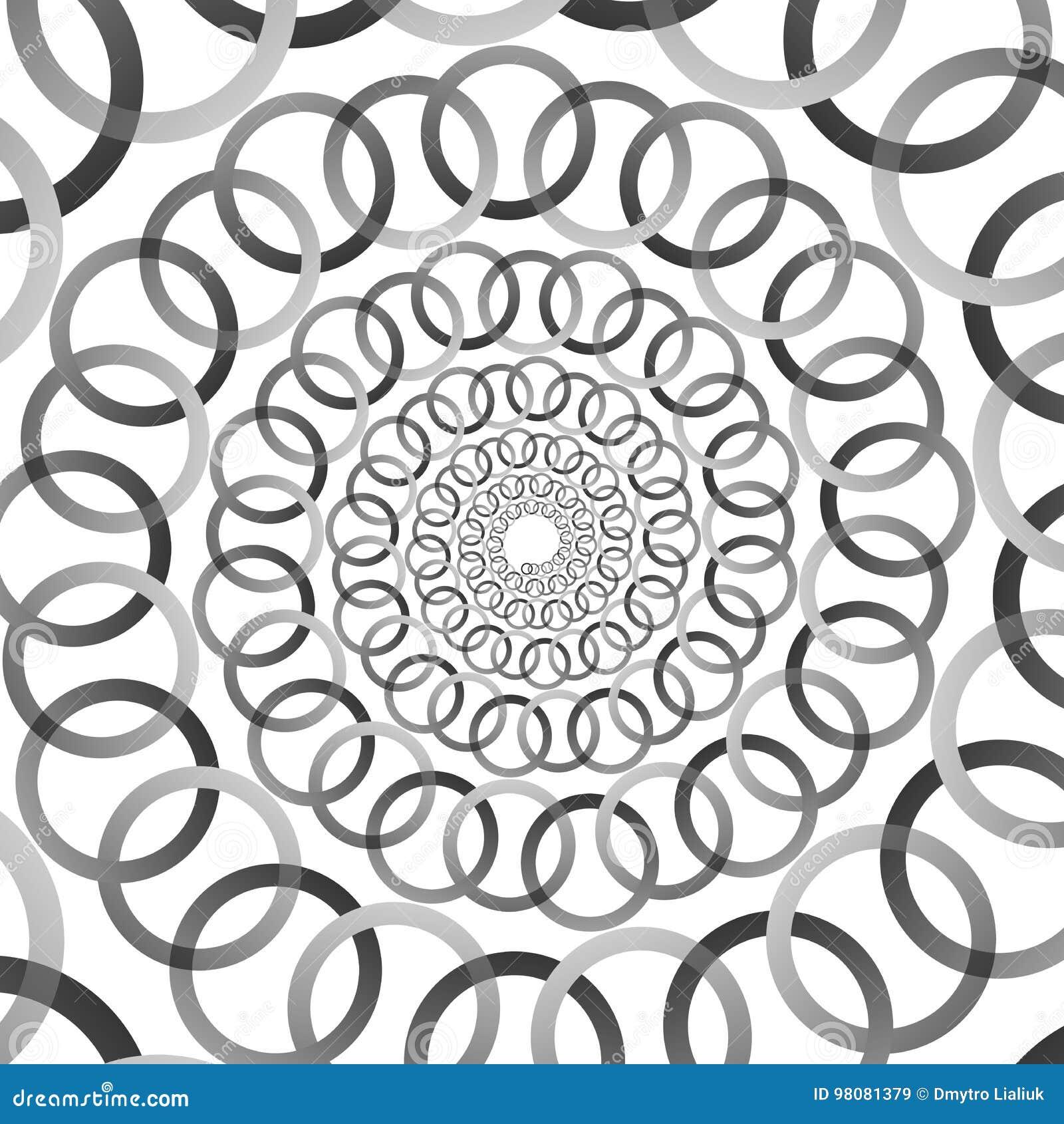 Hintergrund Muster Gewundenes Schwarzweiss Muster Runde Zentrierte