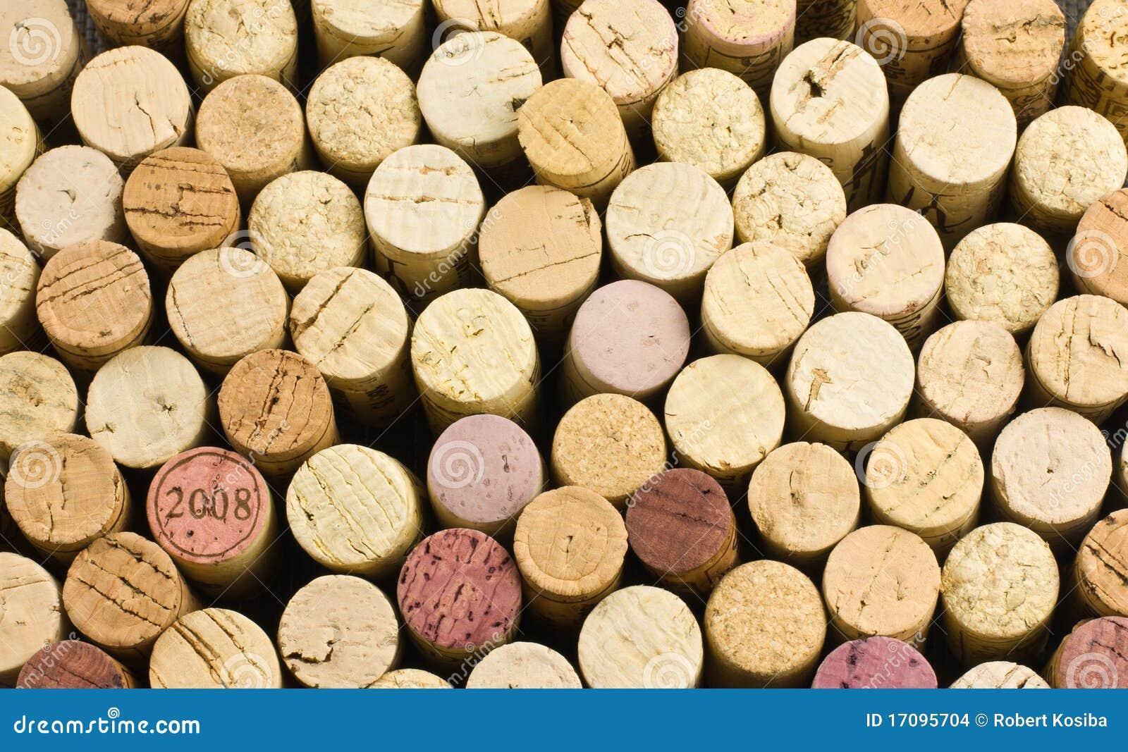 Hintergrund vom Weinkorken