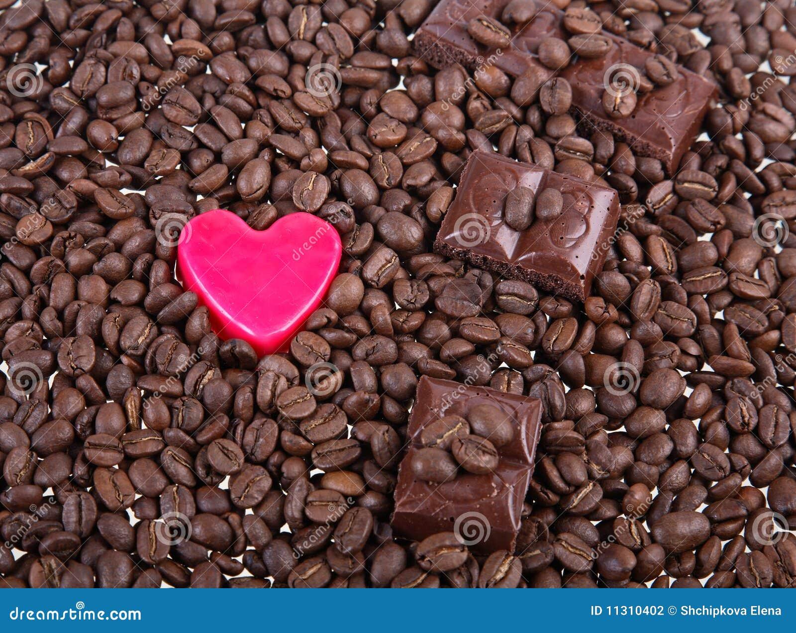 Hintergrund von den Körnern des Kaffees