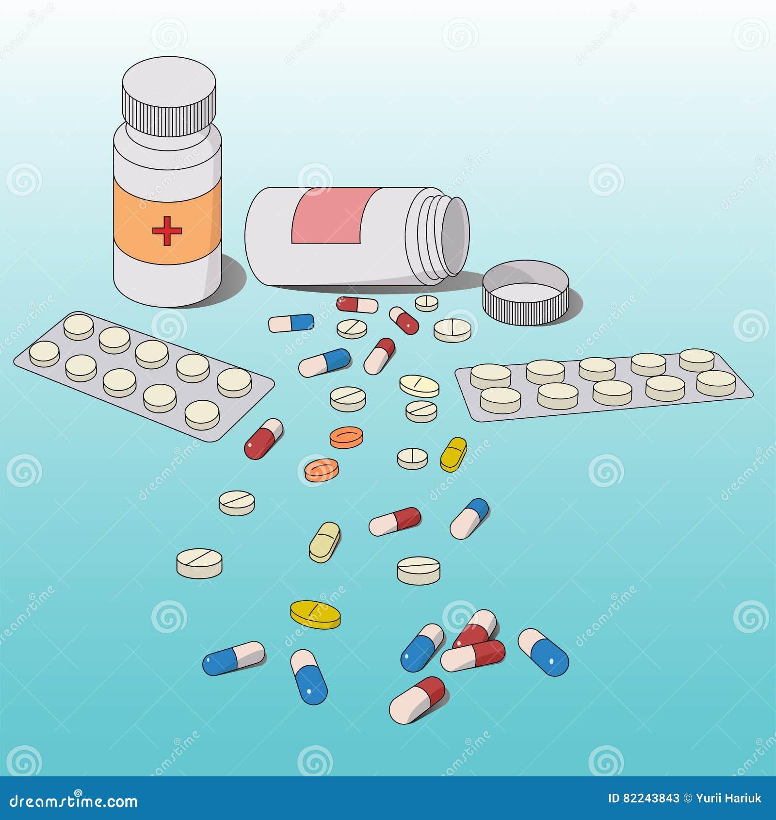 Hintergrund von den medizinischen Tabletten