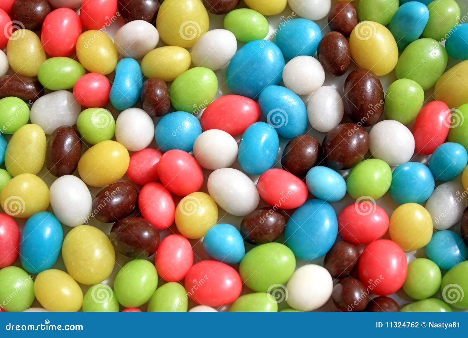 Hintergrund von den mehrfarbigen Bonbons