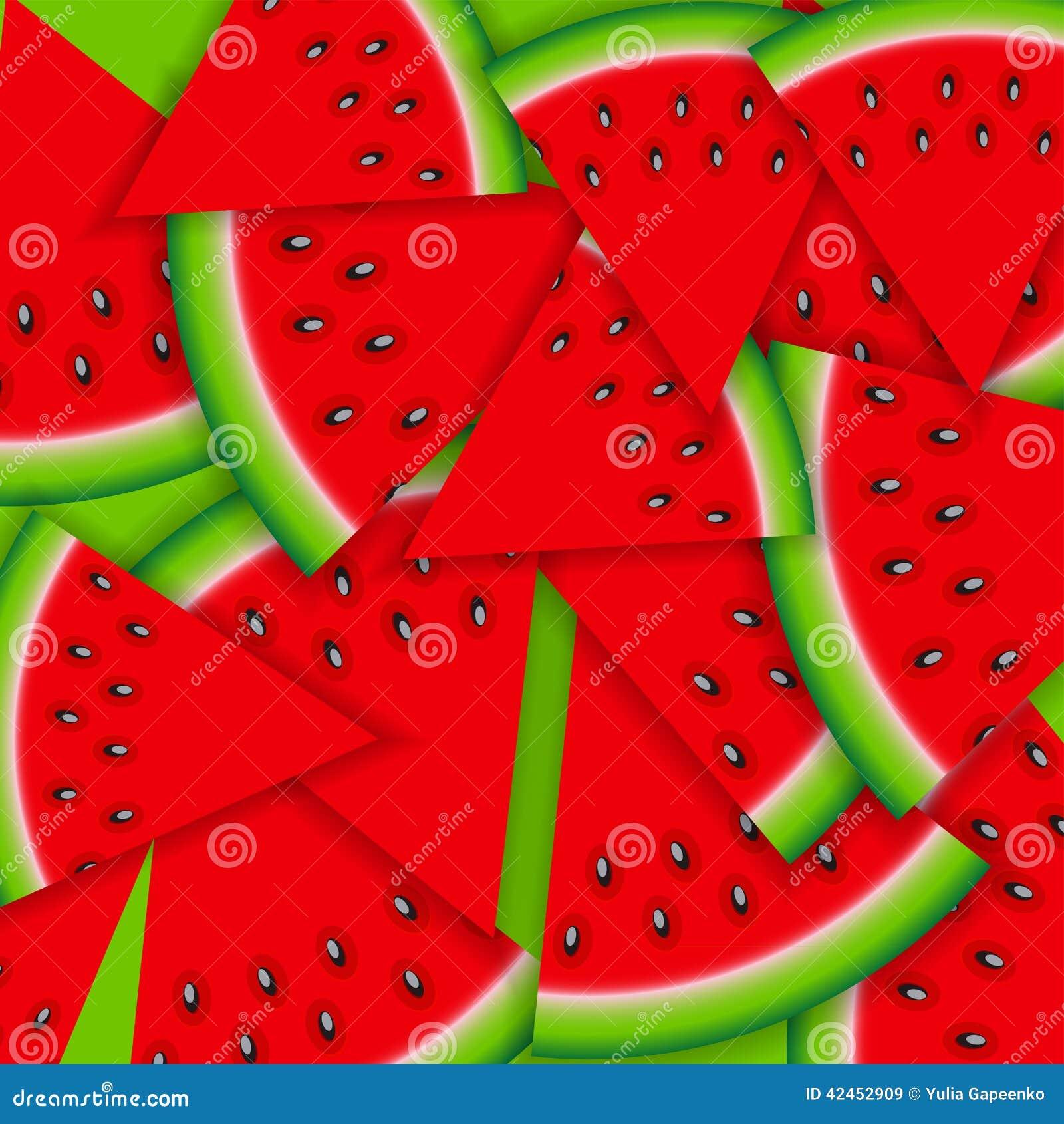 Hintergrund von der Wassermelone Auch im corel abgehobenen Betrag