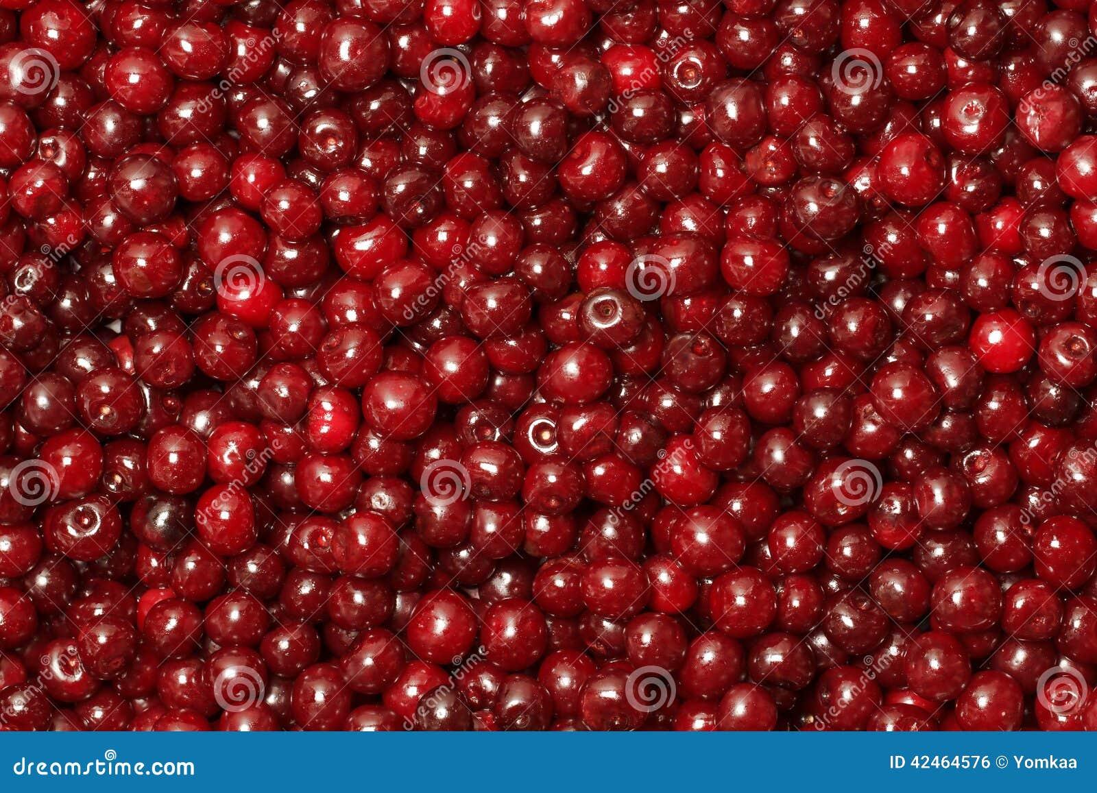 Hintergrund von einer roten Kirsche