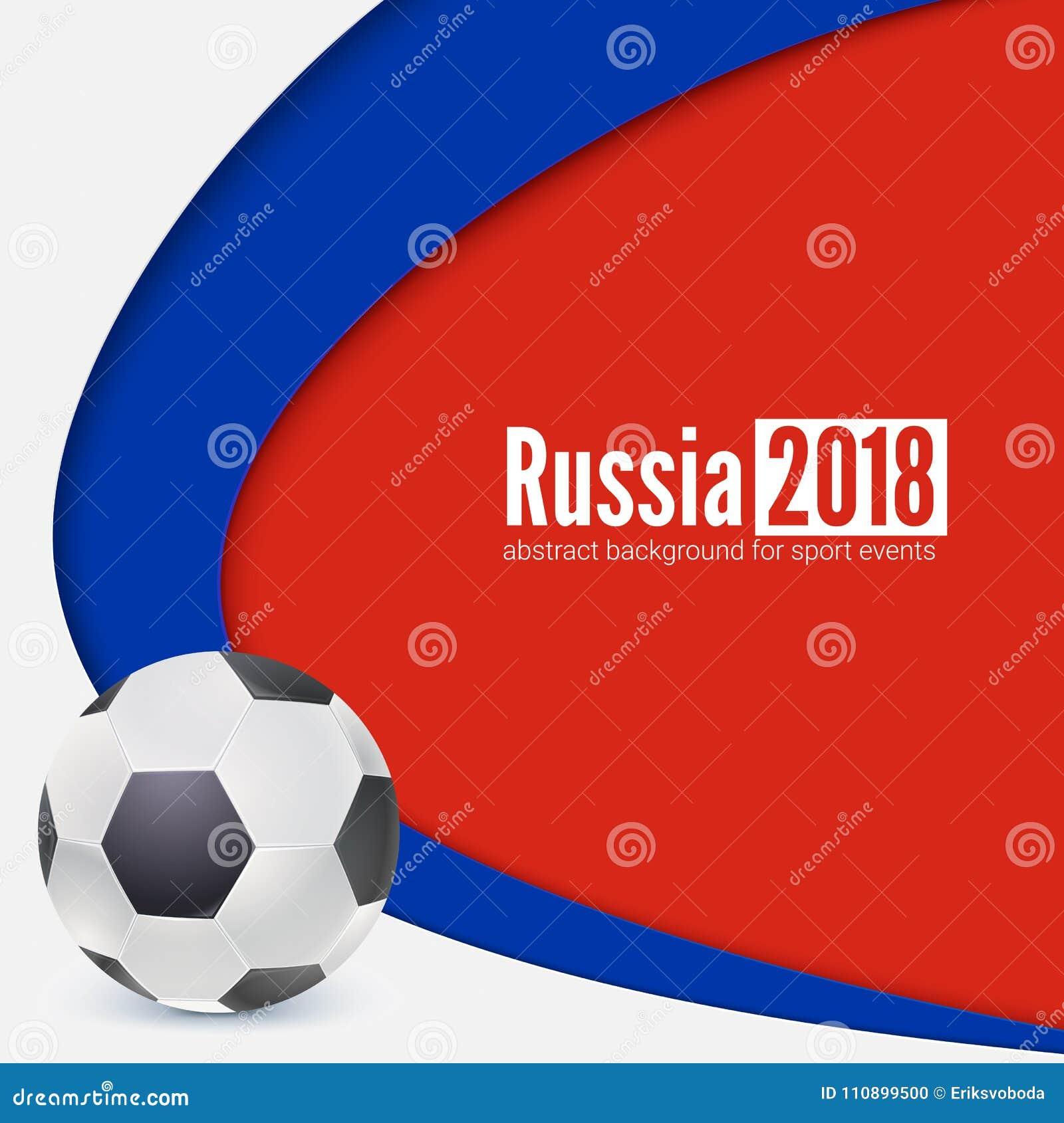 Hintergrund Von Fußball- Oder Fußballweltmeisterschaftscup 2018 ...