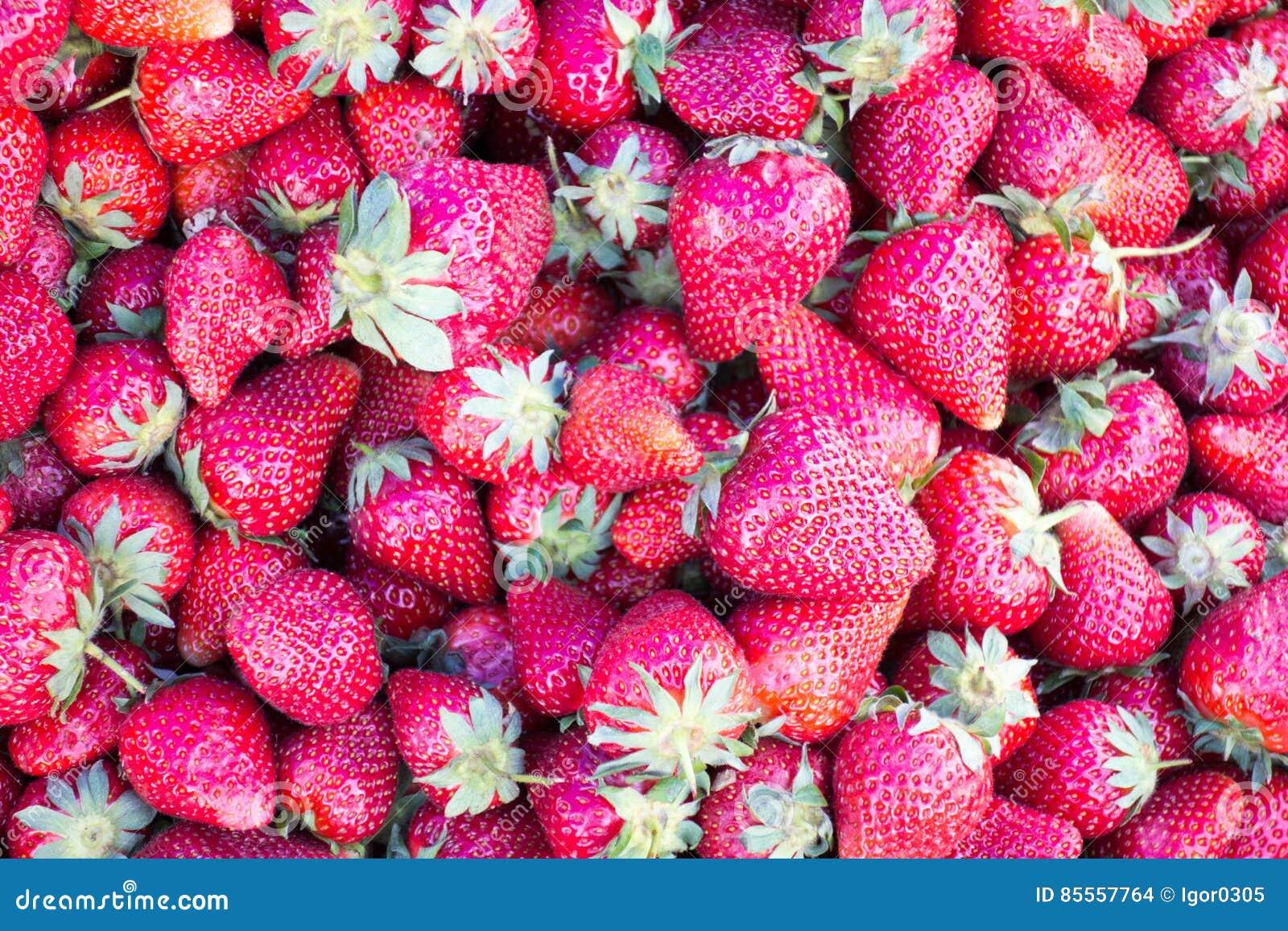 Hintergrund von saftigen Erdbeeren