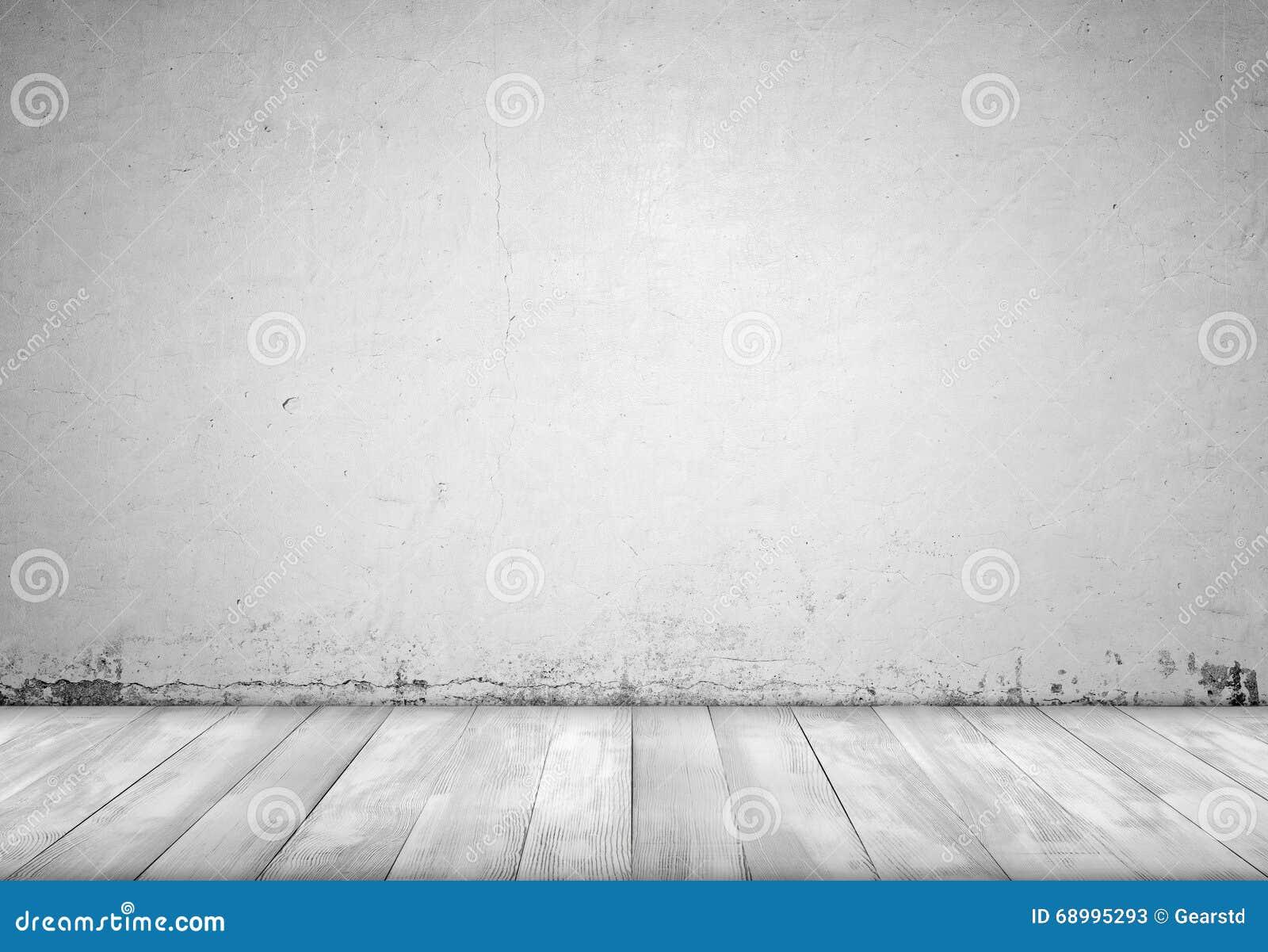 Hintergrundinnenraum Betonmauer Und Holzfussboden Stockbild Bild