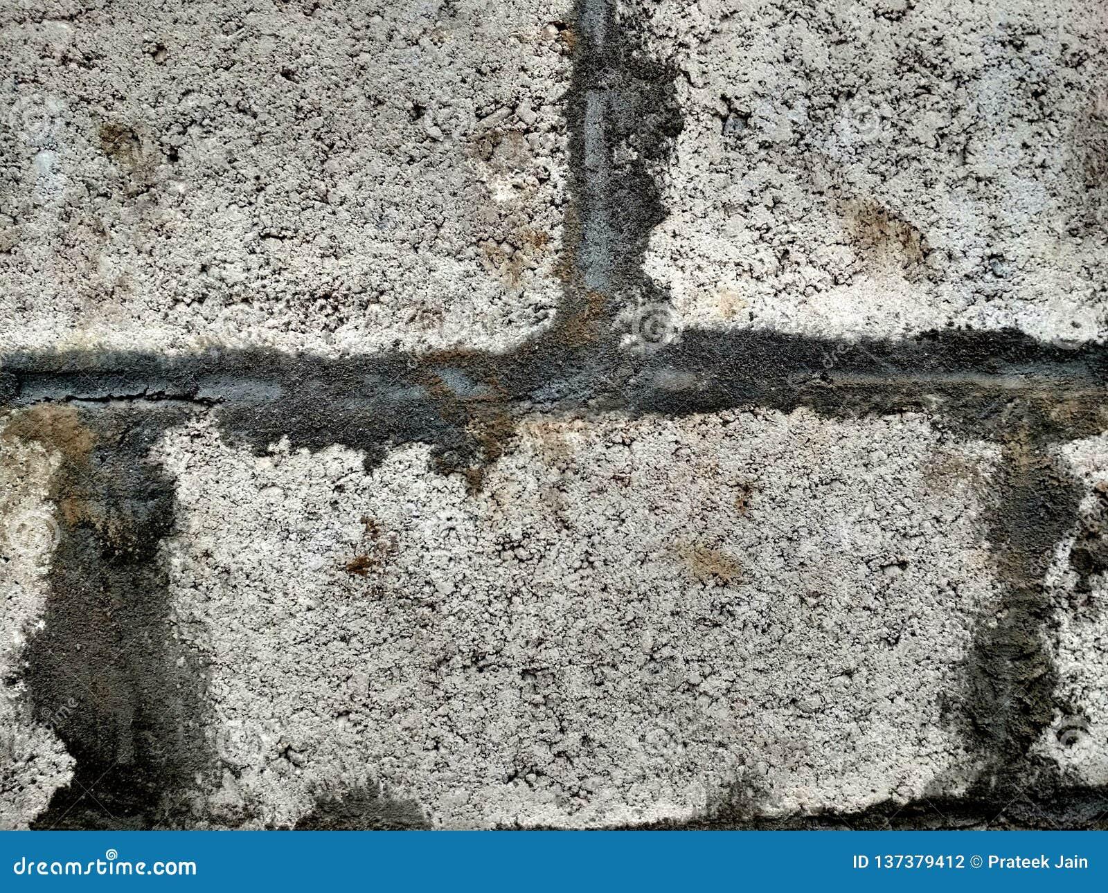 Hintergrundsammlung - eine starke Schicht Zement aus den Grund