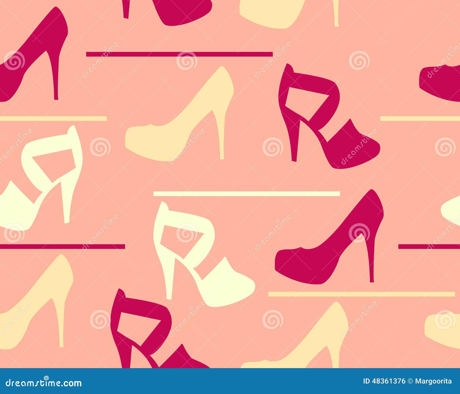 Frauen ` S Sandalen Mit Ikone Der Hohen Absätze Vektor