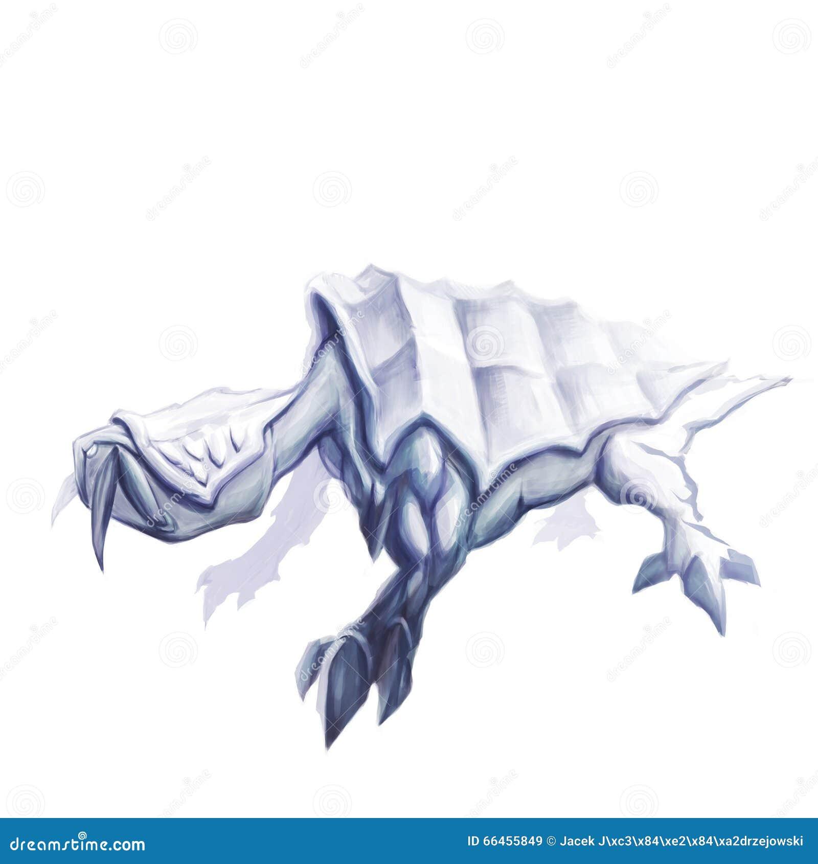 Hinterlistige mythische Reptilkonzeptkunst
