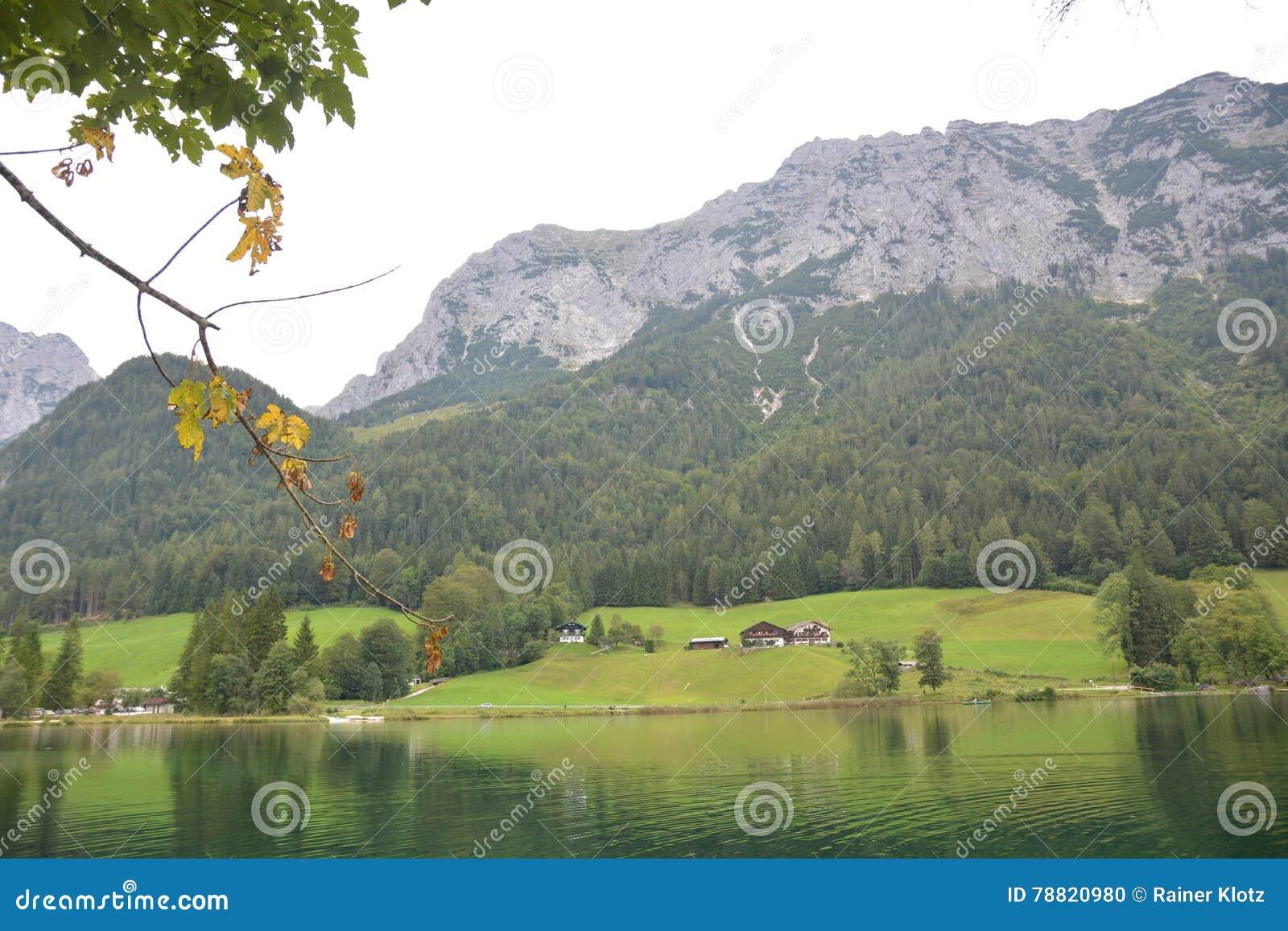 Hintersee in alpi tedesche