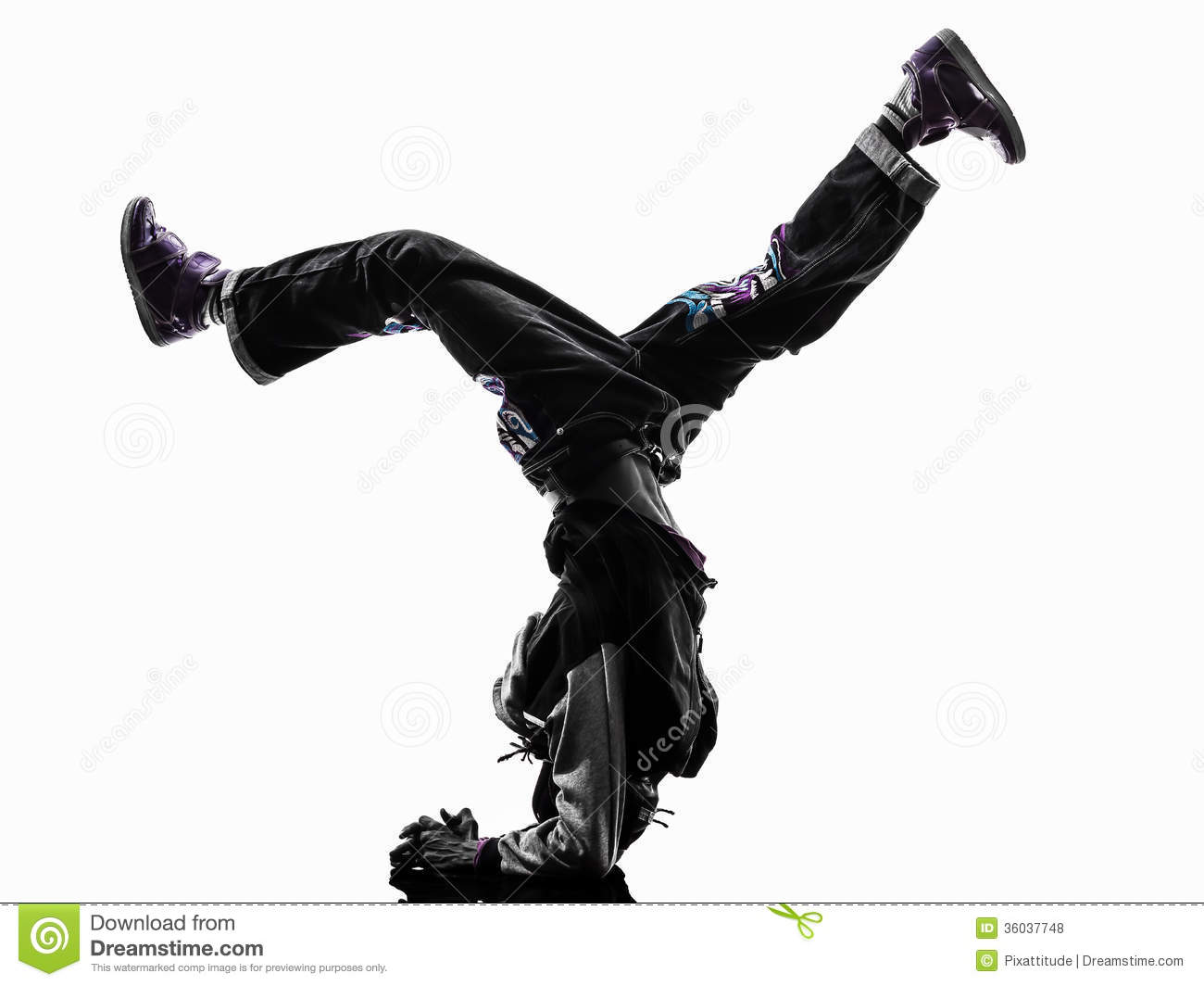 Hip Hop Acrobatic Break Dancer Breakdancing Young Man Handstand ...