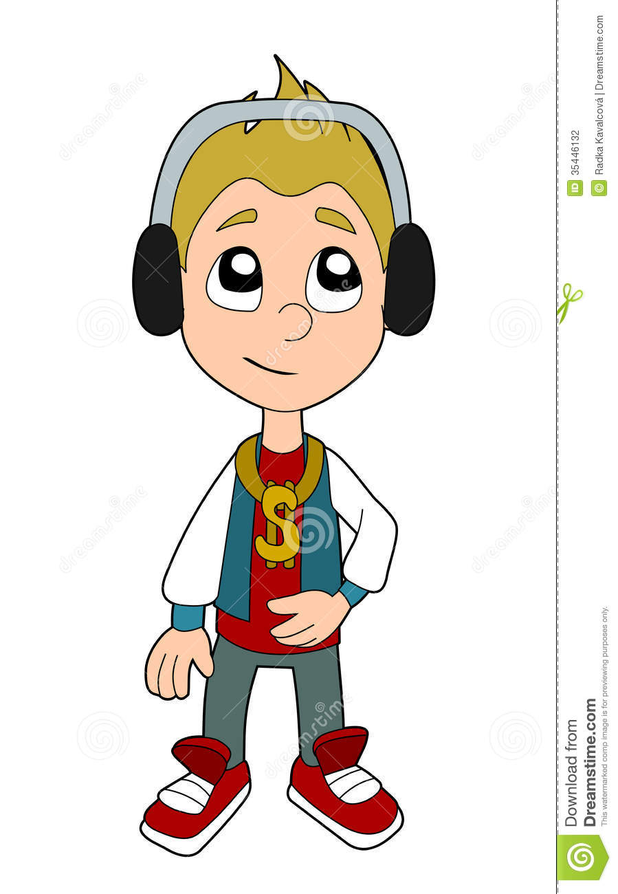 hip hop boy cartoon stock photography - Cartoon Kid Images