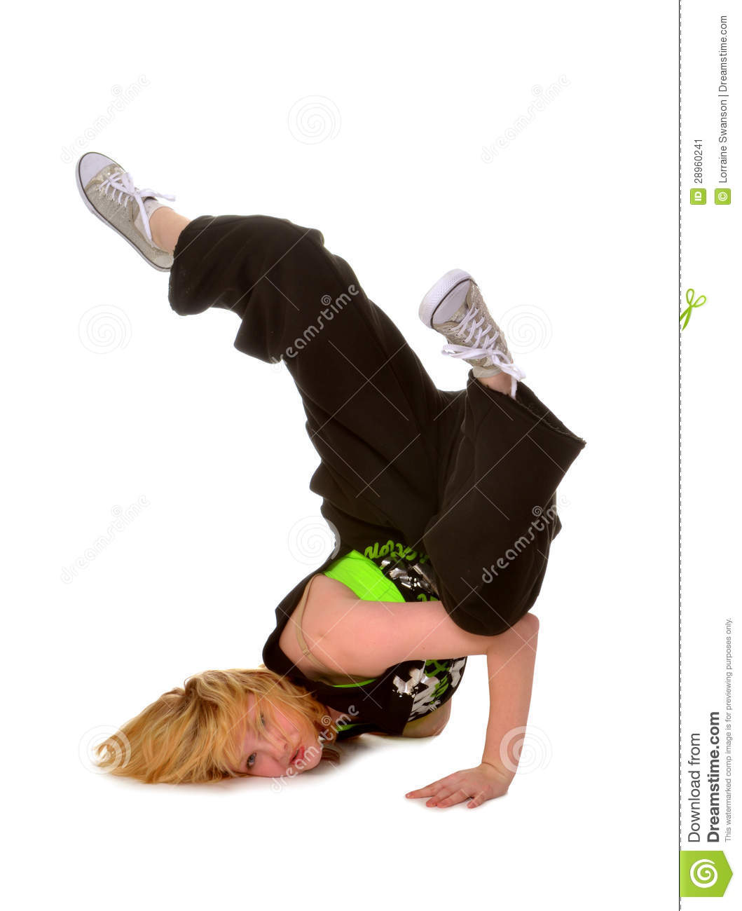 Assez Hip Hop Or Break Dancing Girl Stock Image - Image: 28960241 SU23