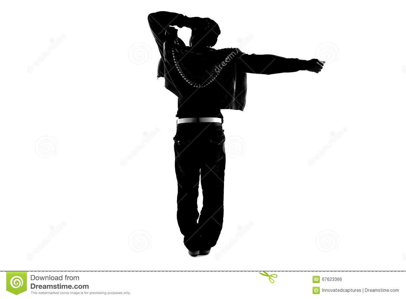 Hip Hop Dancer Silhouette Stock Photo Image Of Moves