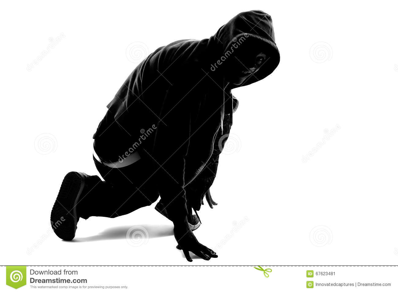 Hip Hop Dancer Silhouette Stock Image Of Movement
