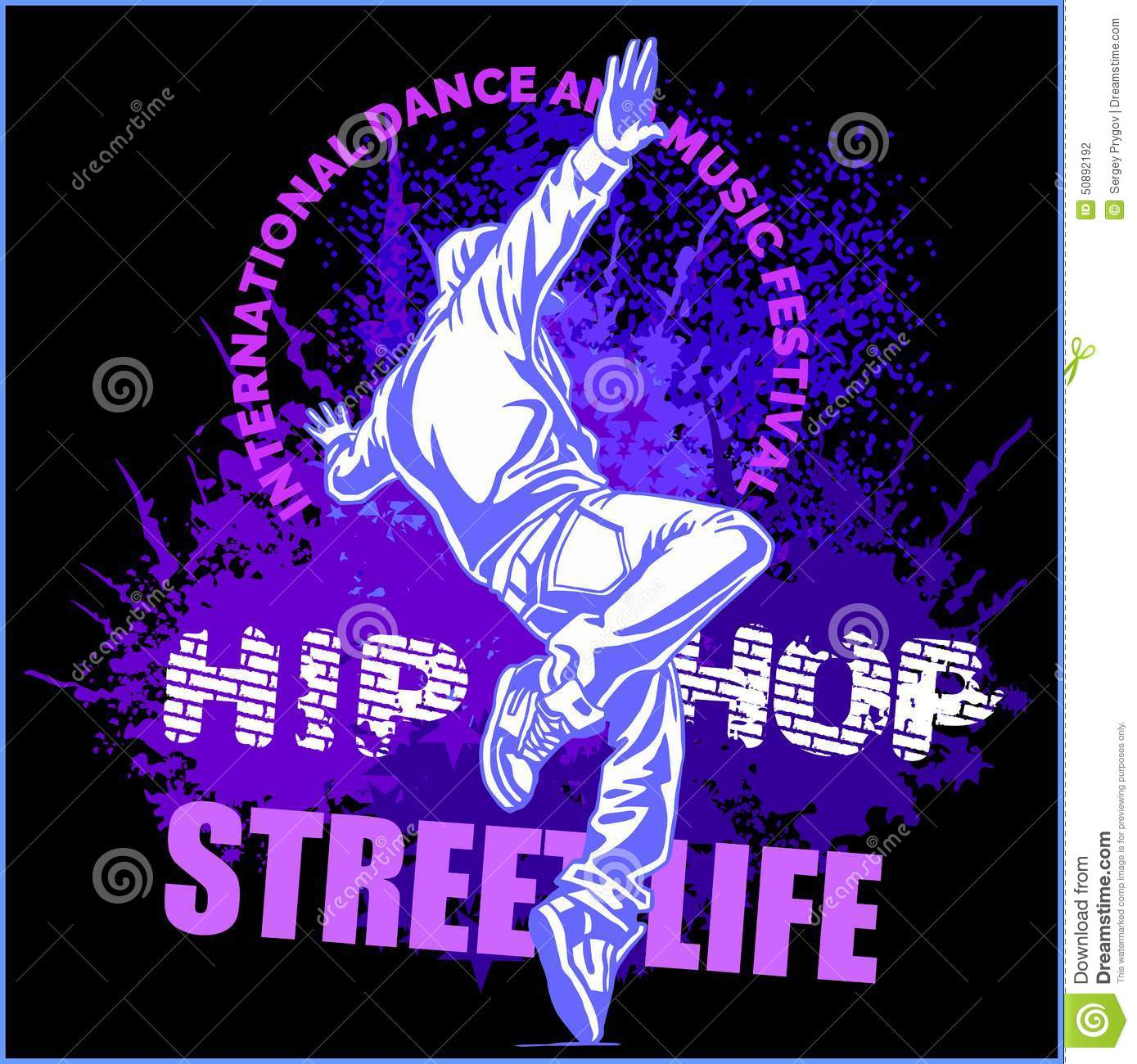 Download Hip Hop Dancer On White Background Stock Vector