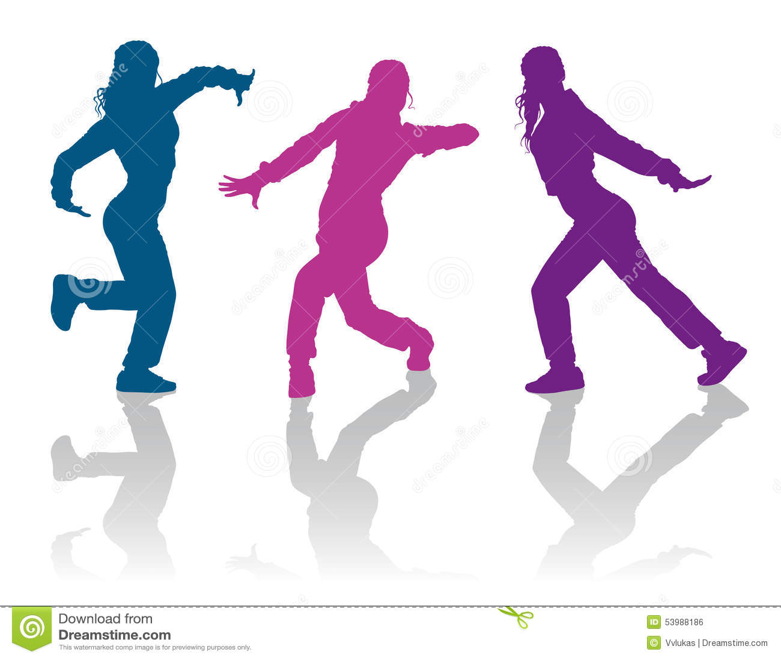 hip hop dancing girls stock vector illustration of dancing 53988186 rh dreamstime com hip hop dance pictures clip art hip hop dance pictures clip art