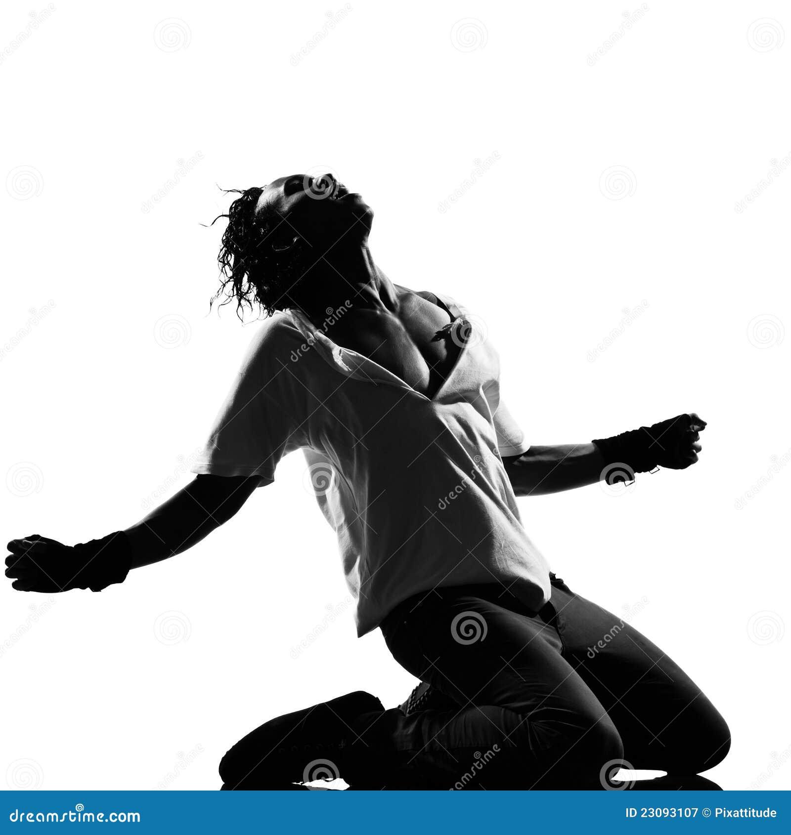 hip hop funk dancer dancing man kneeling screaming royalty