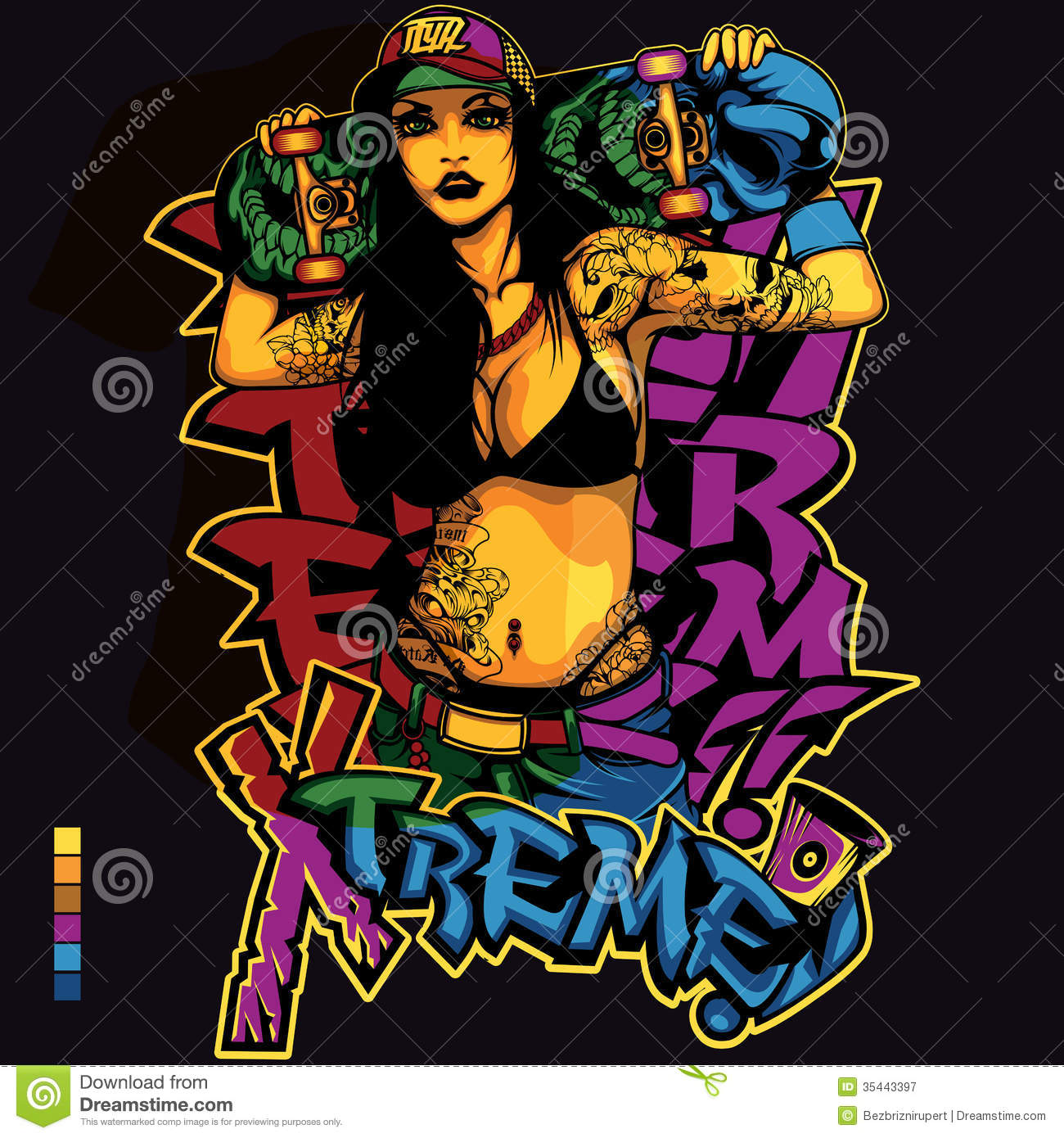 T shirt design hip hop - Hip Hop Girl Shirt Design