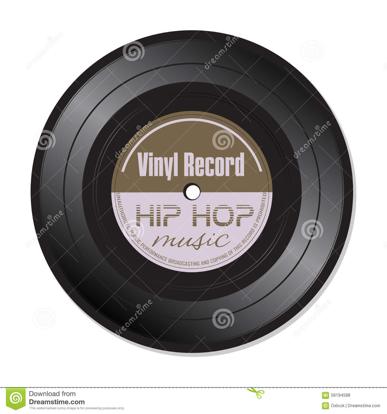 Hip Hop Music Vinyl Record Stock Vector Image Of Isolated