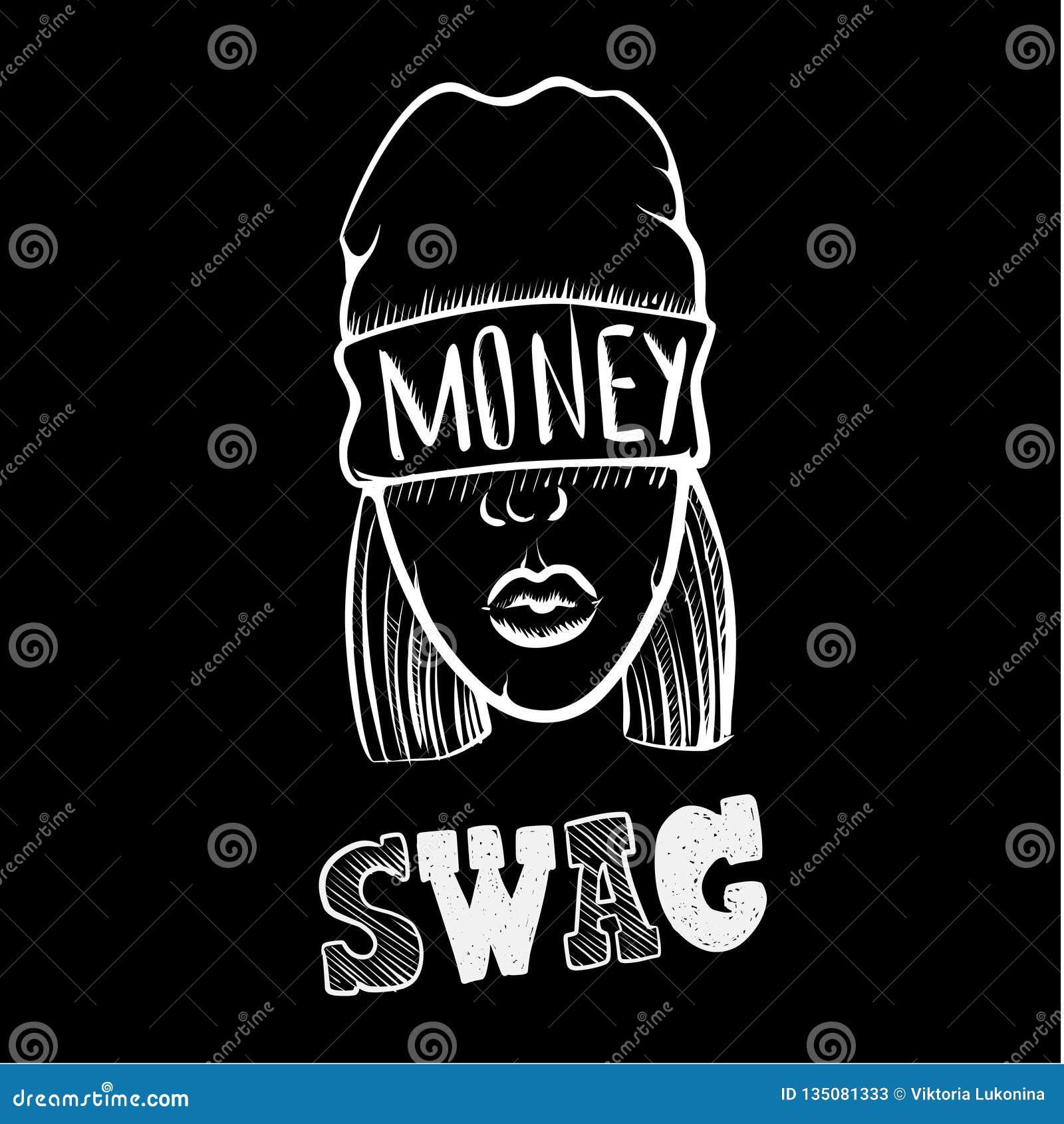 Hip Hop Muzyki Dziewczyna ładna Młoda Miastowa Rap