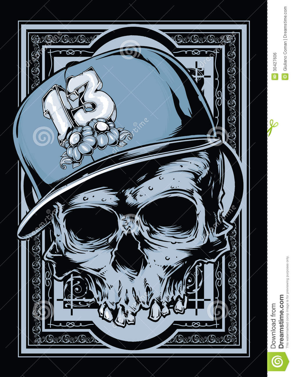 hip hop skull stock vector  image of banner  halloween