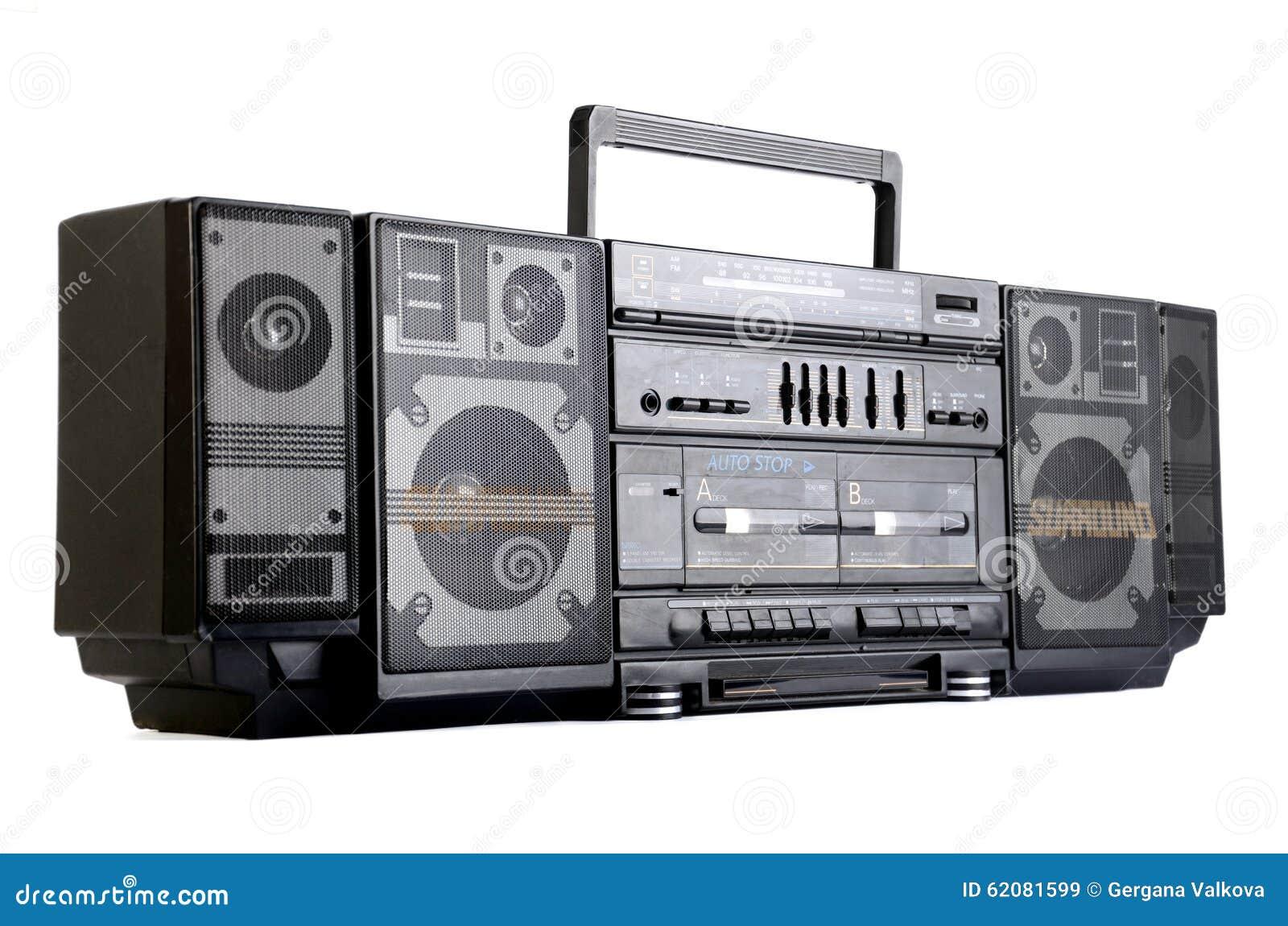 hip hop surround sound radio isolated on white stock image image 62081599. Black Bedroom Furniture Sets. Home Design Ideas