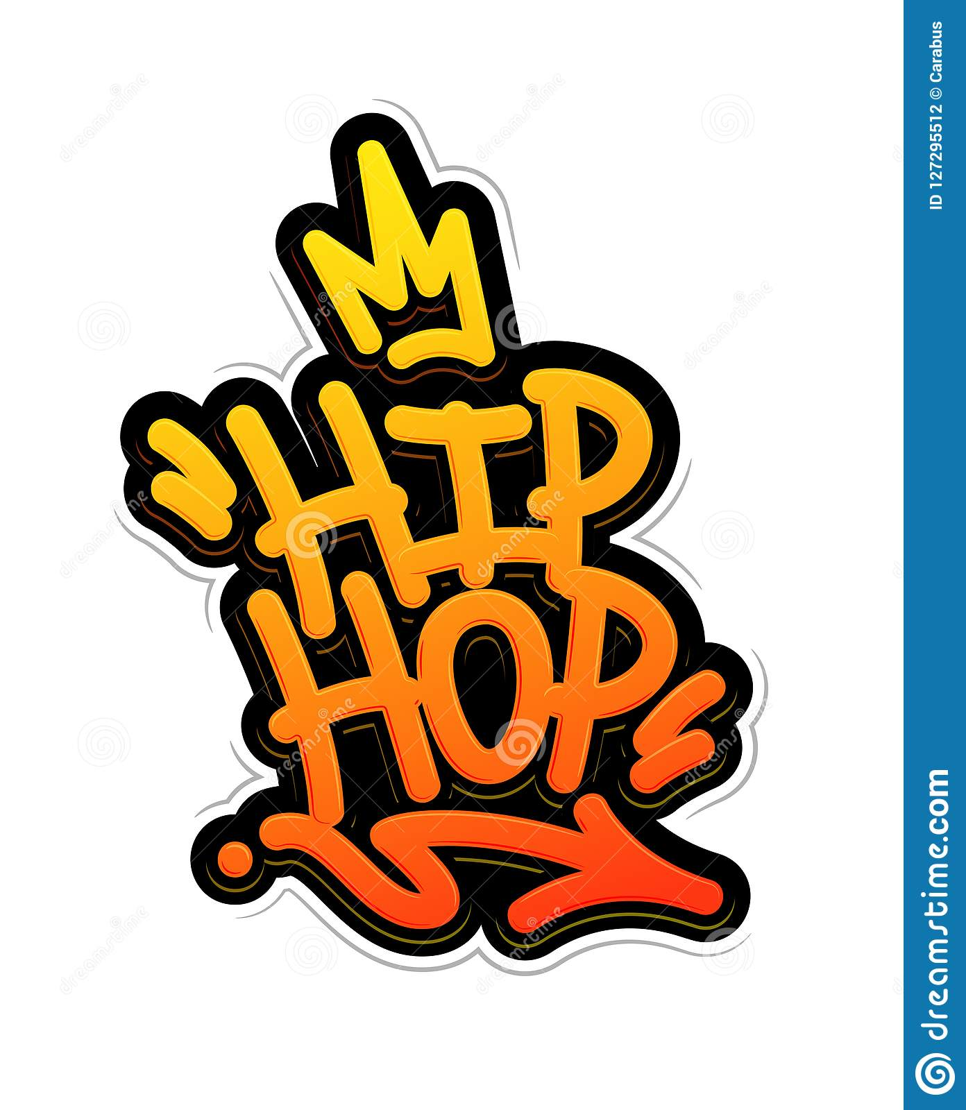 Hip Hop Tag Graffiti Style Label Lettering. Vector