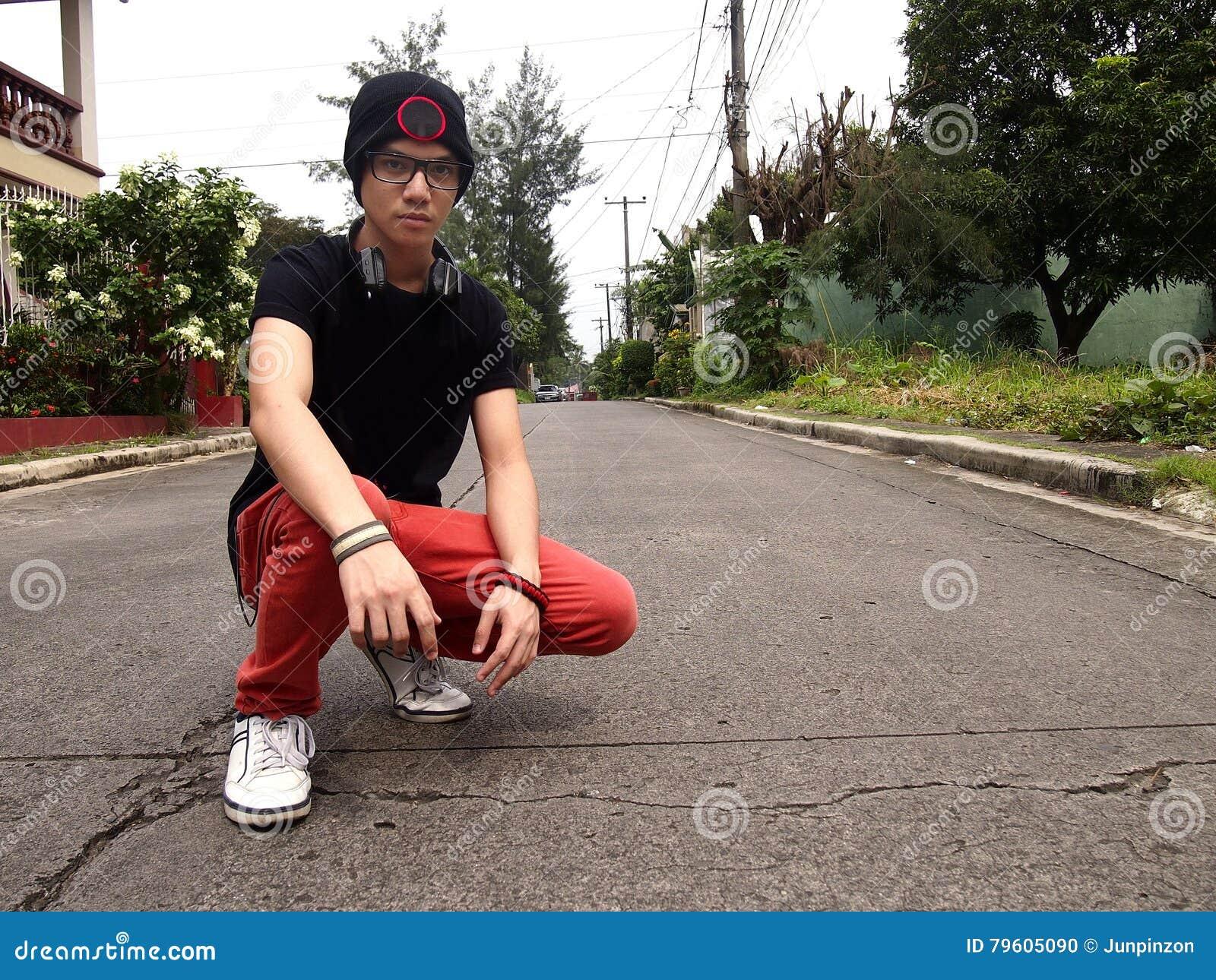 Hip male teenager
