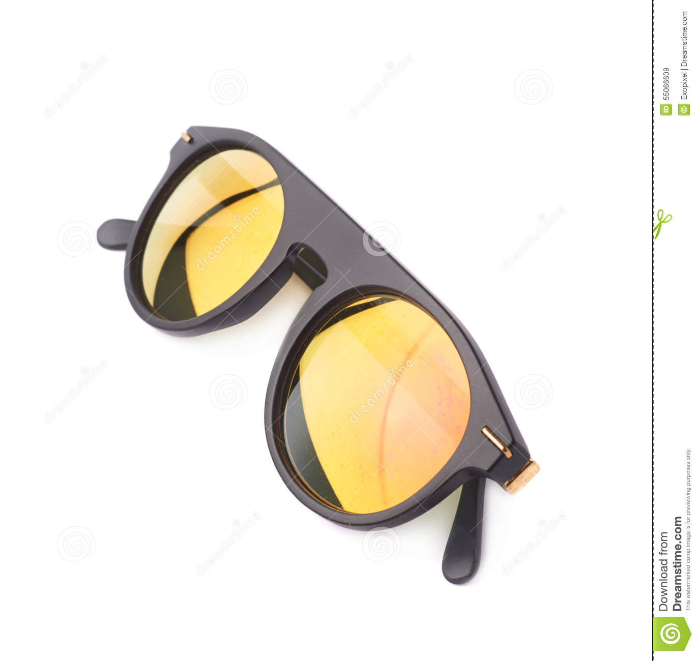 Hip Yellow Glasses In A Black Frame Stock Image - Image of glossy ...