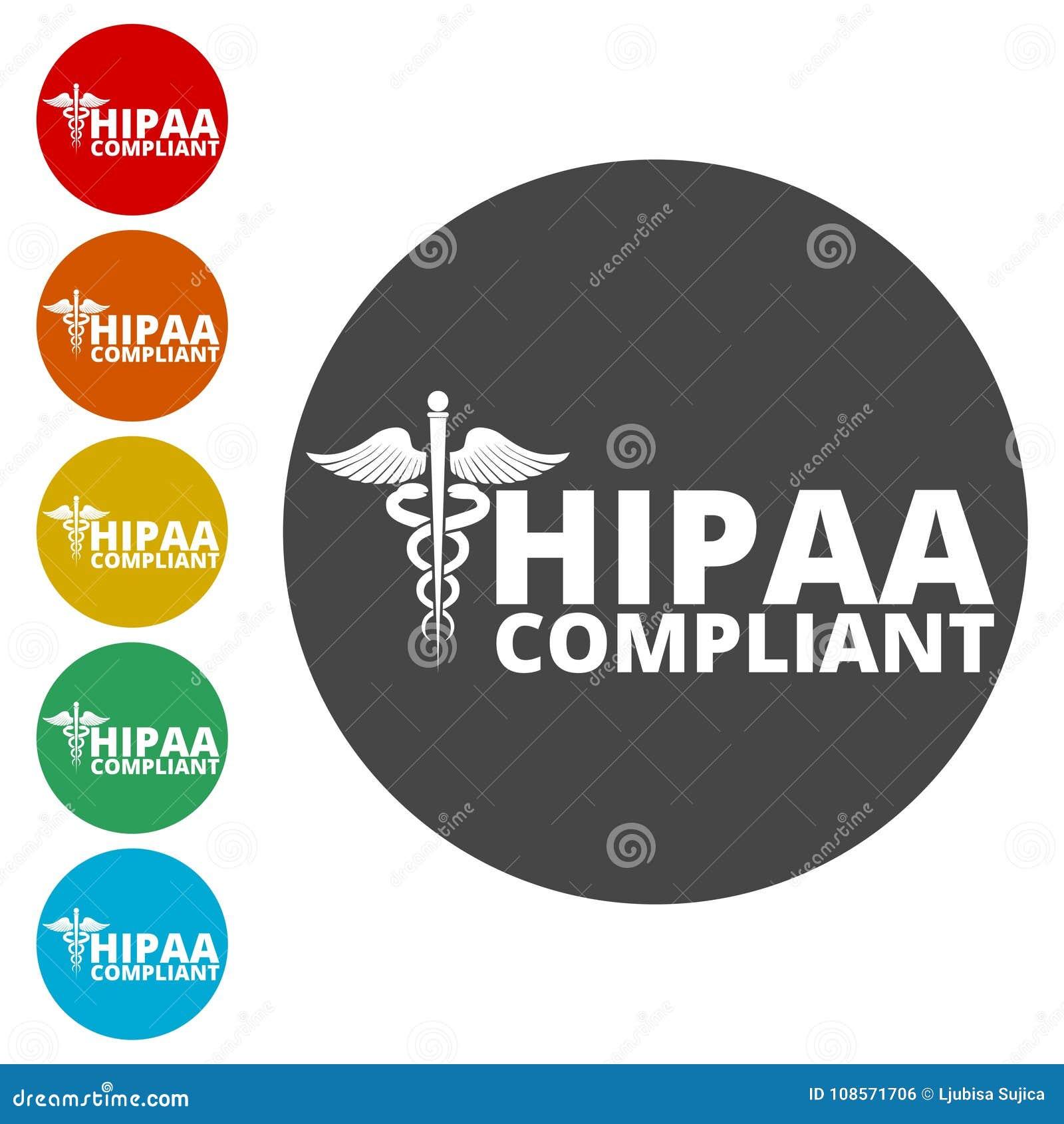 HIPAA - Health Insurance Portability And Accountability Act Icon Stock Vector - Illustration of ...