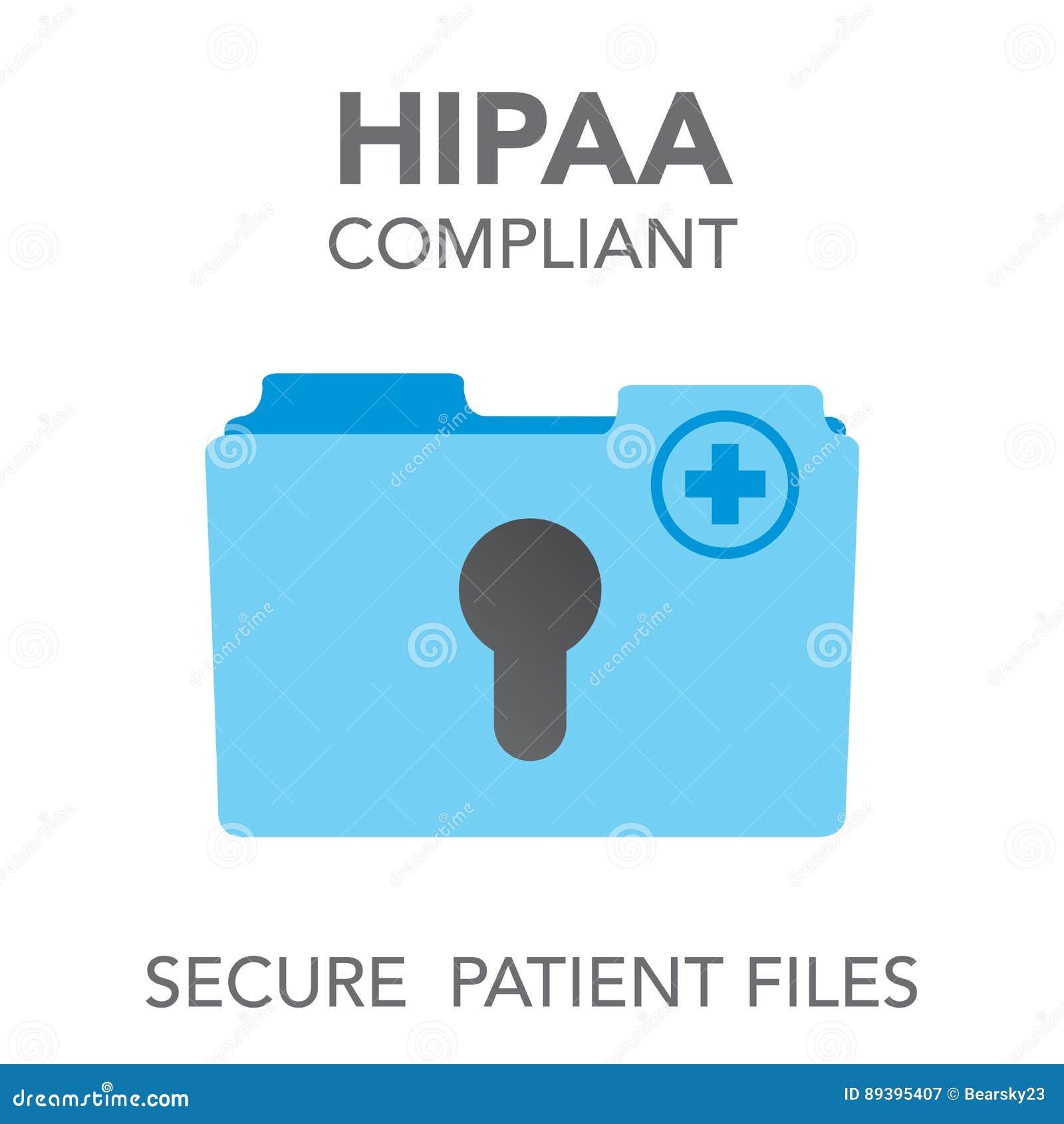 HIPAA zgodności ikony grafika