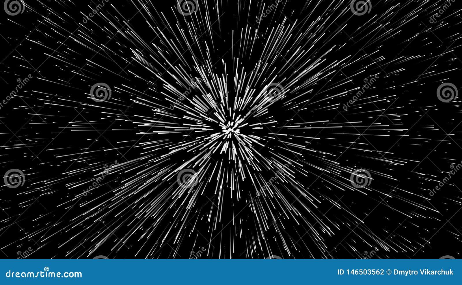 Hiper- skok t?o geometrycznego abstrakcyjne K??kowy geometryczny wz?r Starburst dynamiczne linie